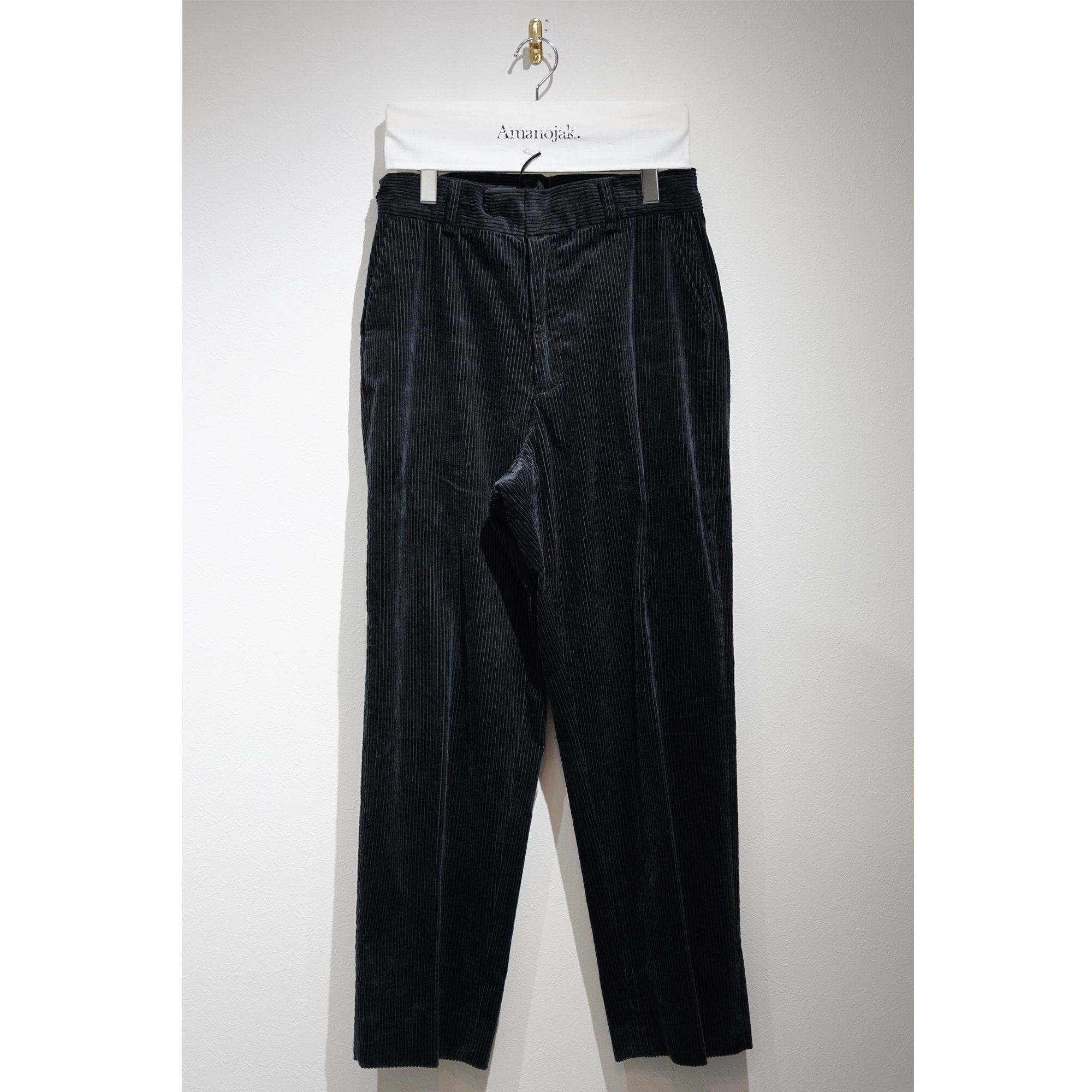 【3/24まで受注受付】ATHA-CORDUROY EASY TROUSERS NAVY