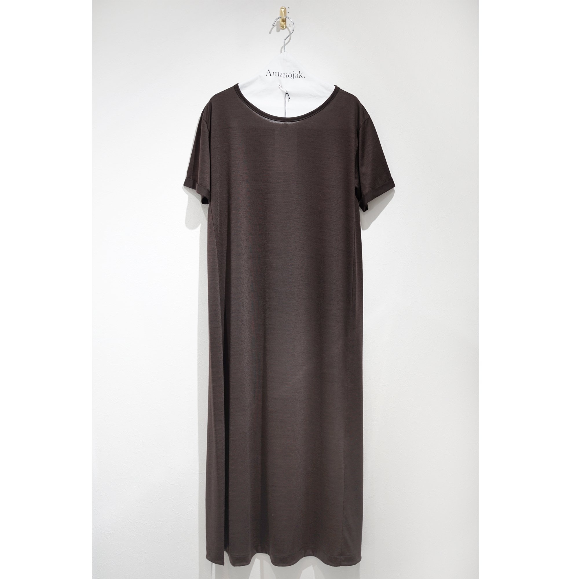 BATONER-WOOL DRESS TEE ONEPIECE BROWN