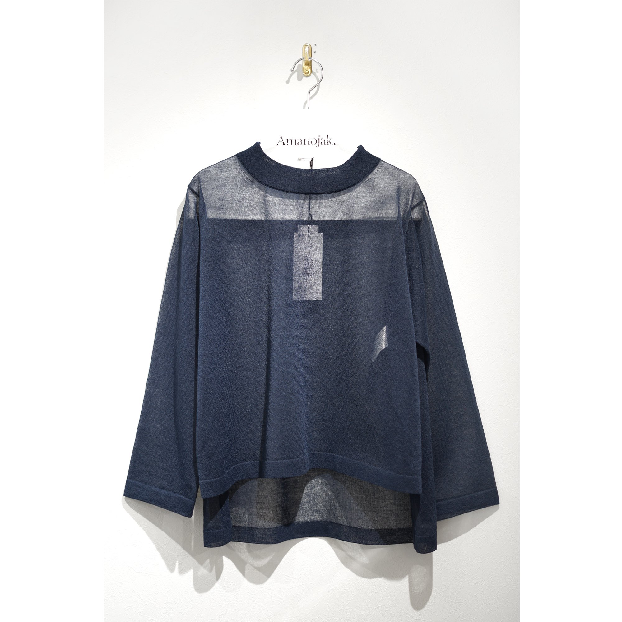 BATONER-SEE THROUGH CREW NECK NAVY