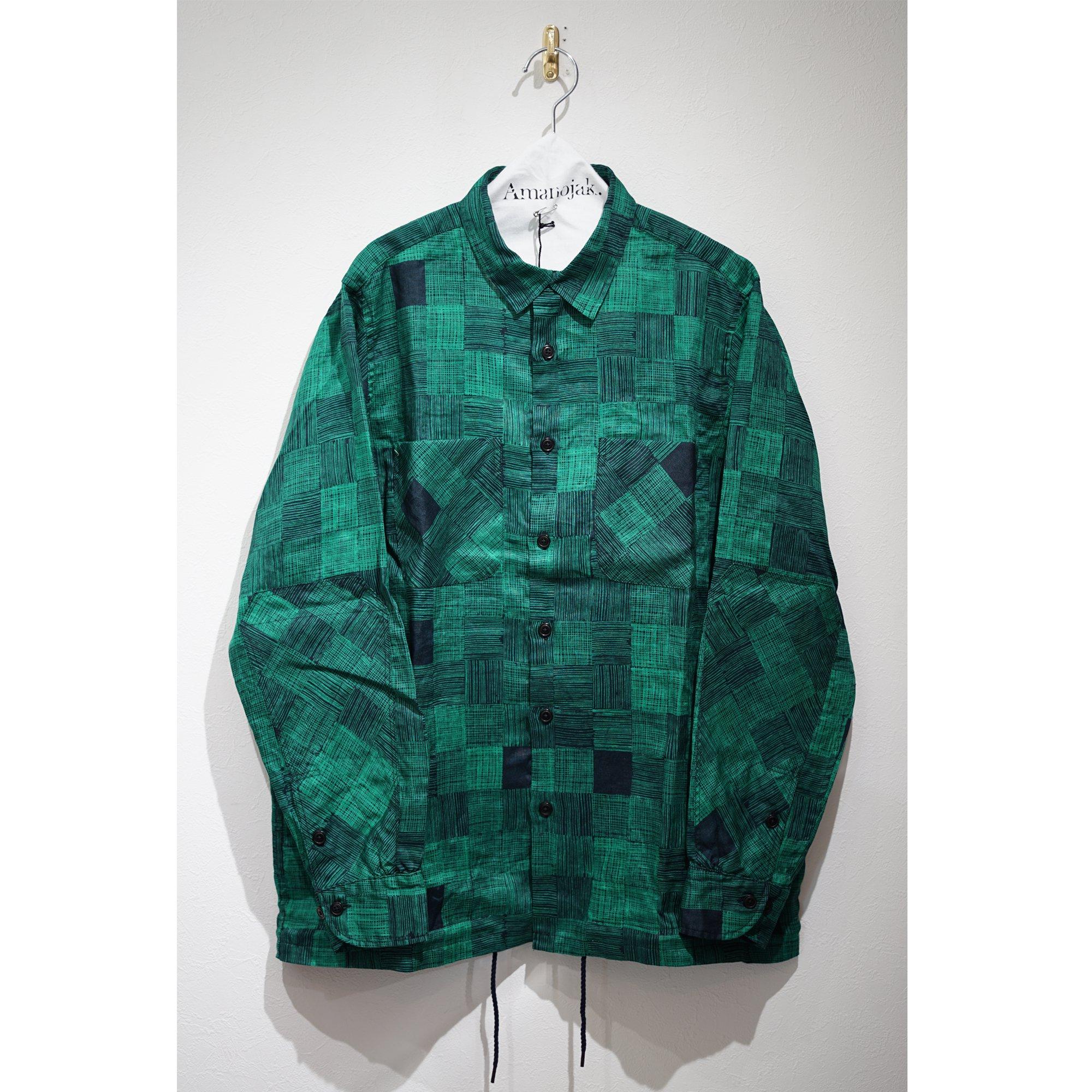 BRU NA BOINNE-雨中チェックシャツ グリーン