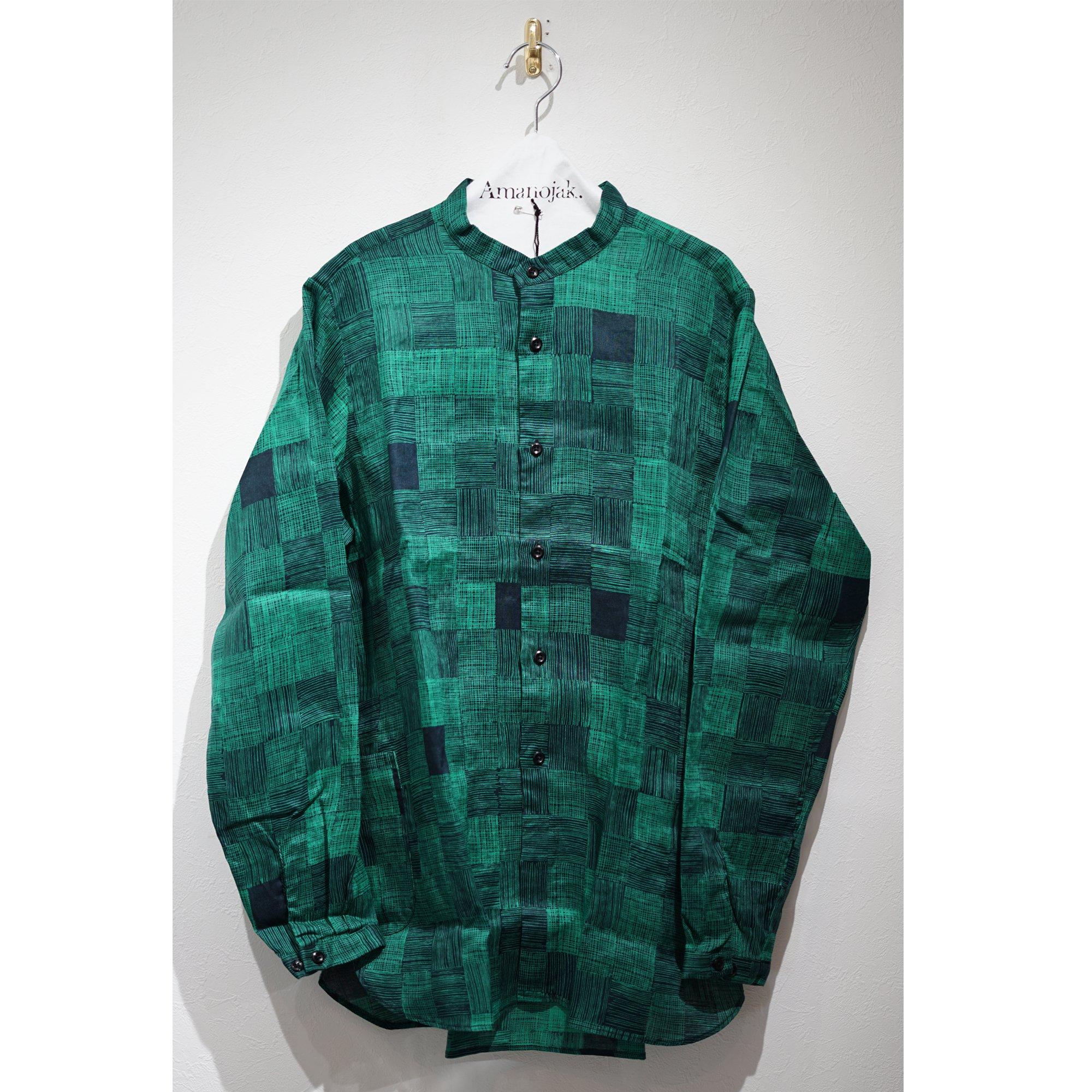 BRU NA BOINNE-雨中チェックスナフシャツ グリーン