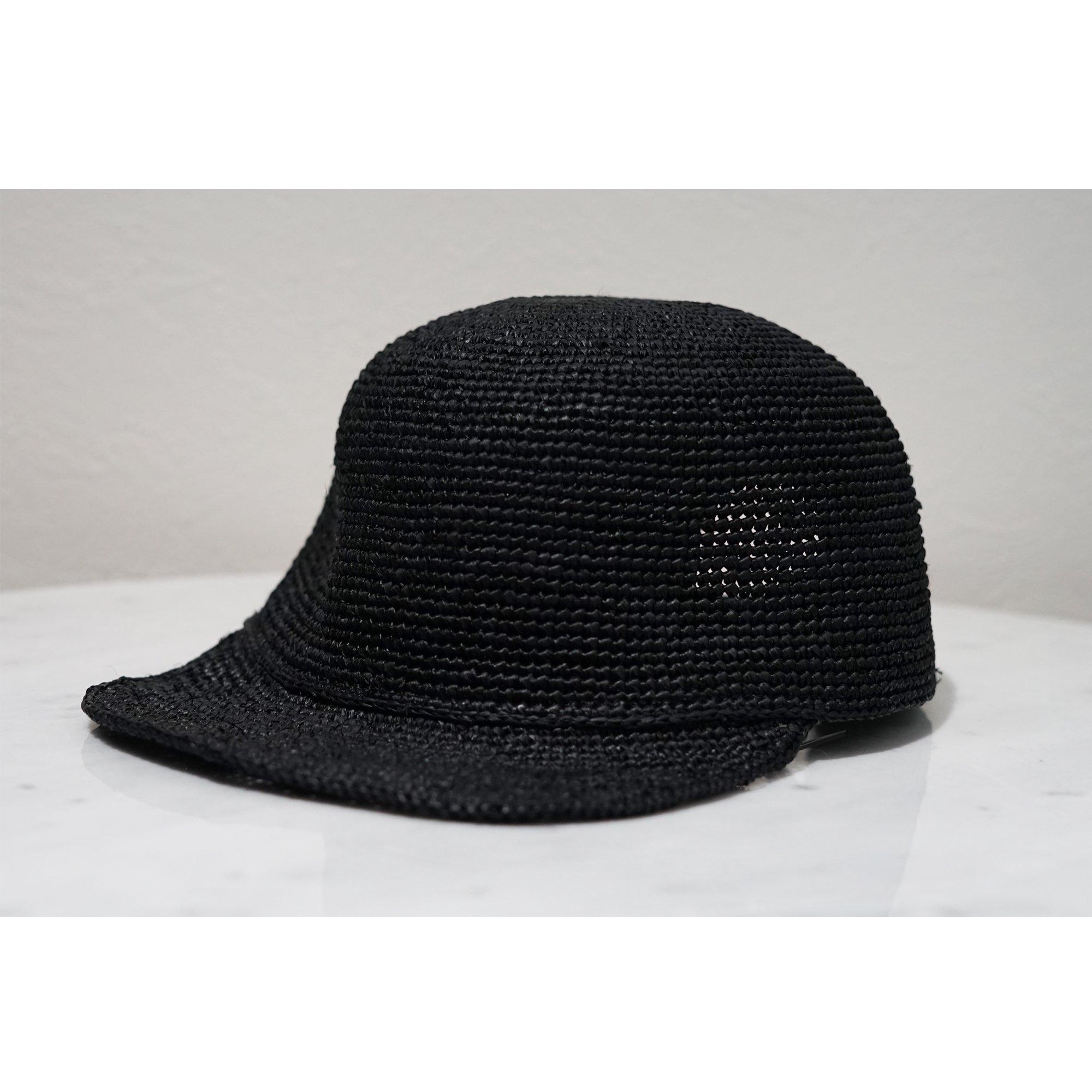 KIJIMA TAKAYUKI-RAFFIA CAP