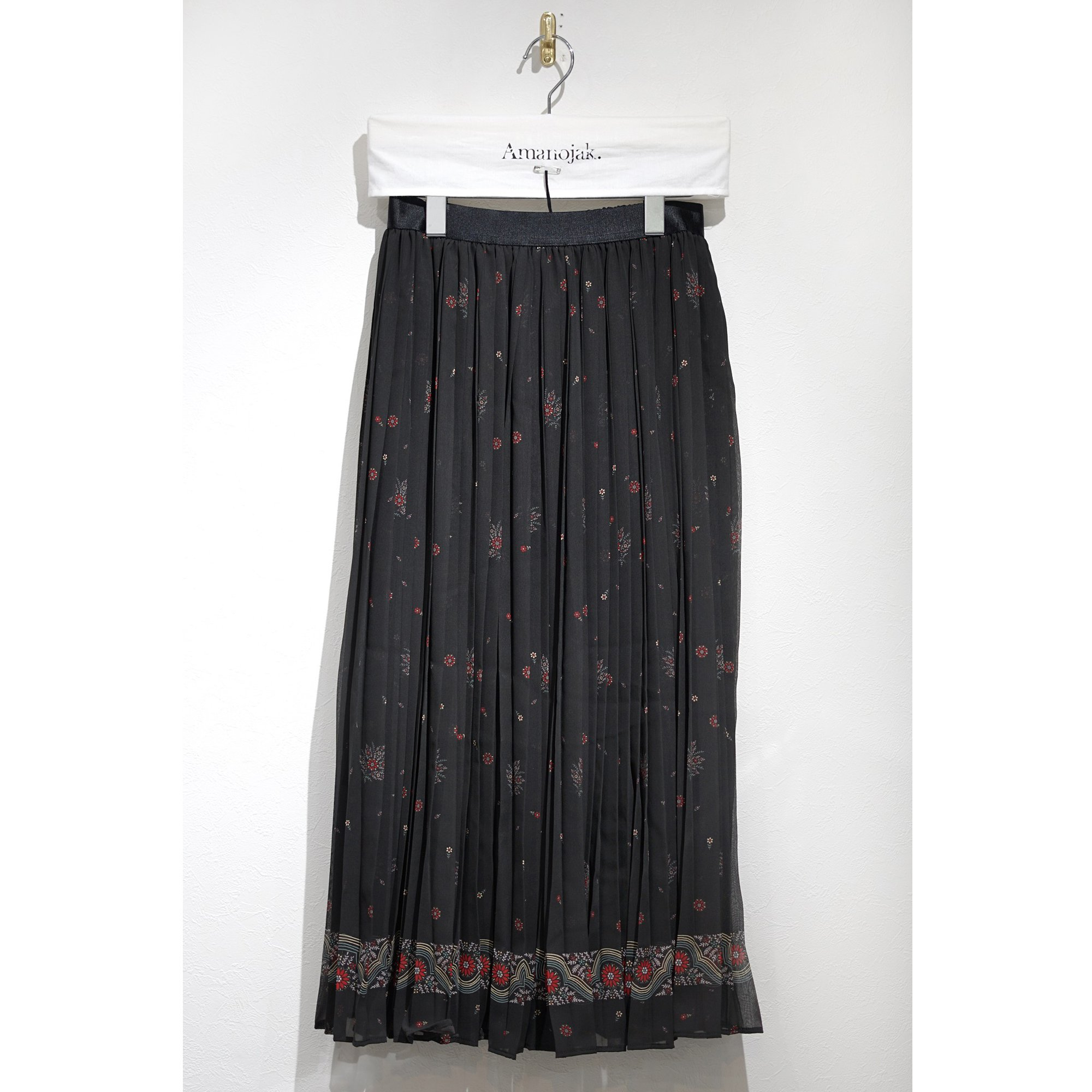 08sircus-FLOWER PRINT PLEATED SKIRT