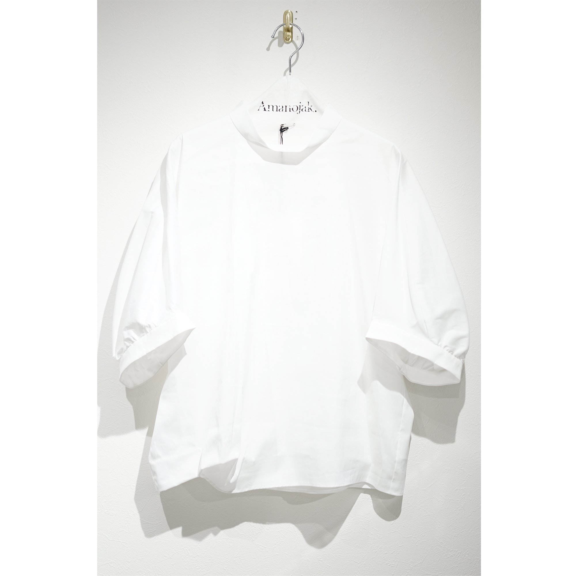 08sircus-STRECH BROAD GATHER TOP WHITE