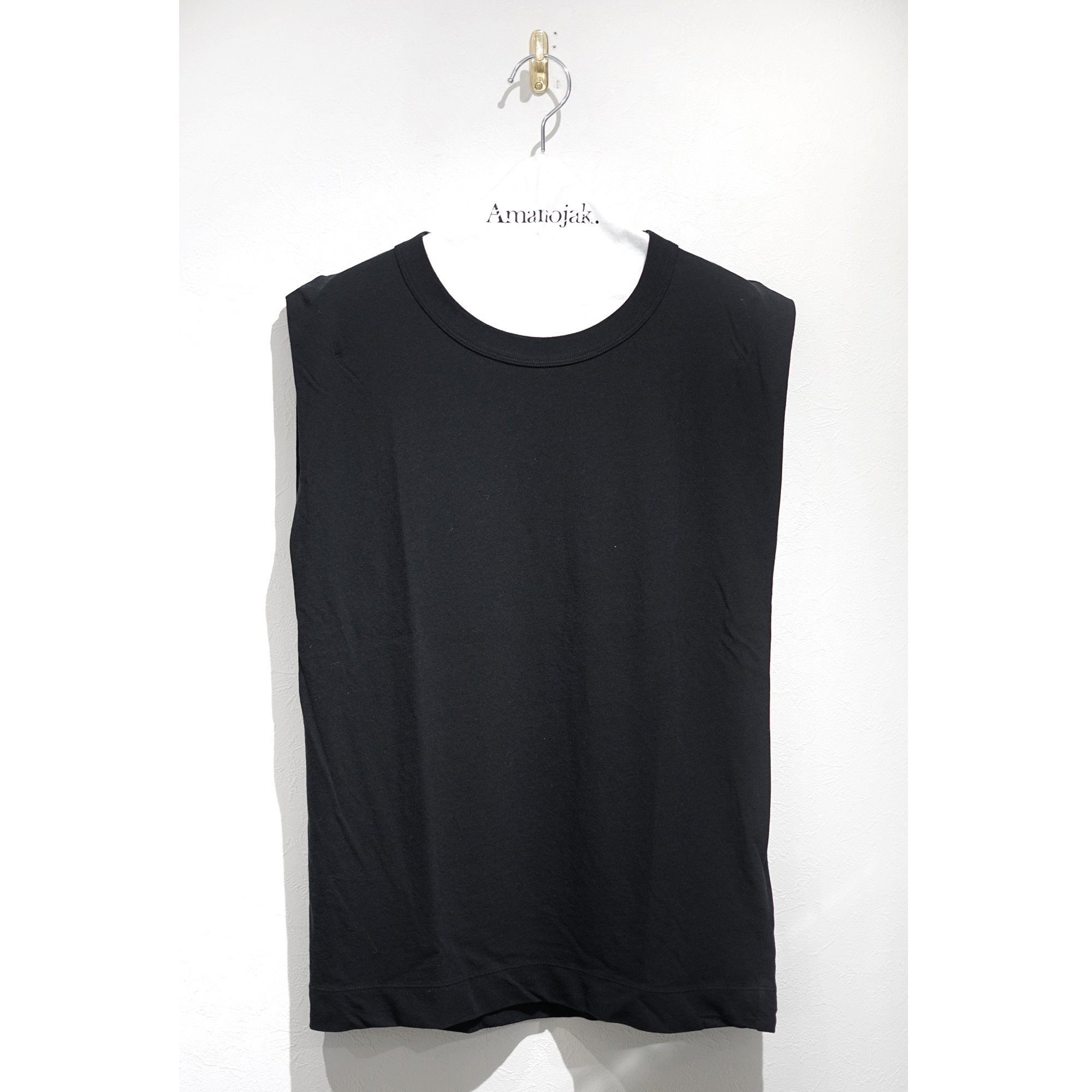 ATON-FRESCA TANK TOP BLACK