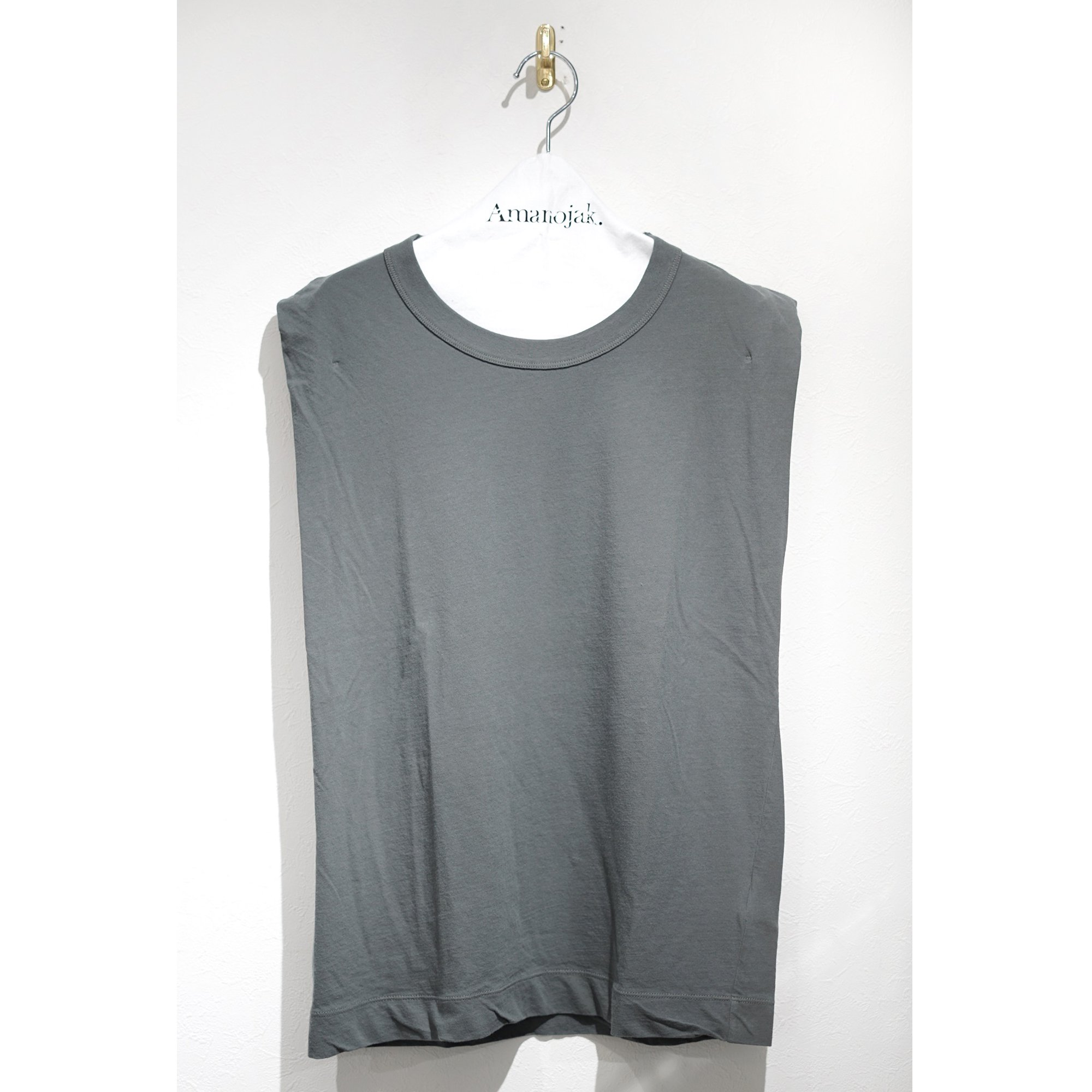 ATON-FRESCA TANK TOP CHARCOAL GREY