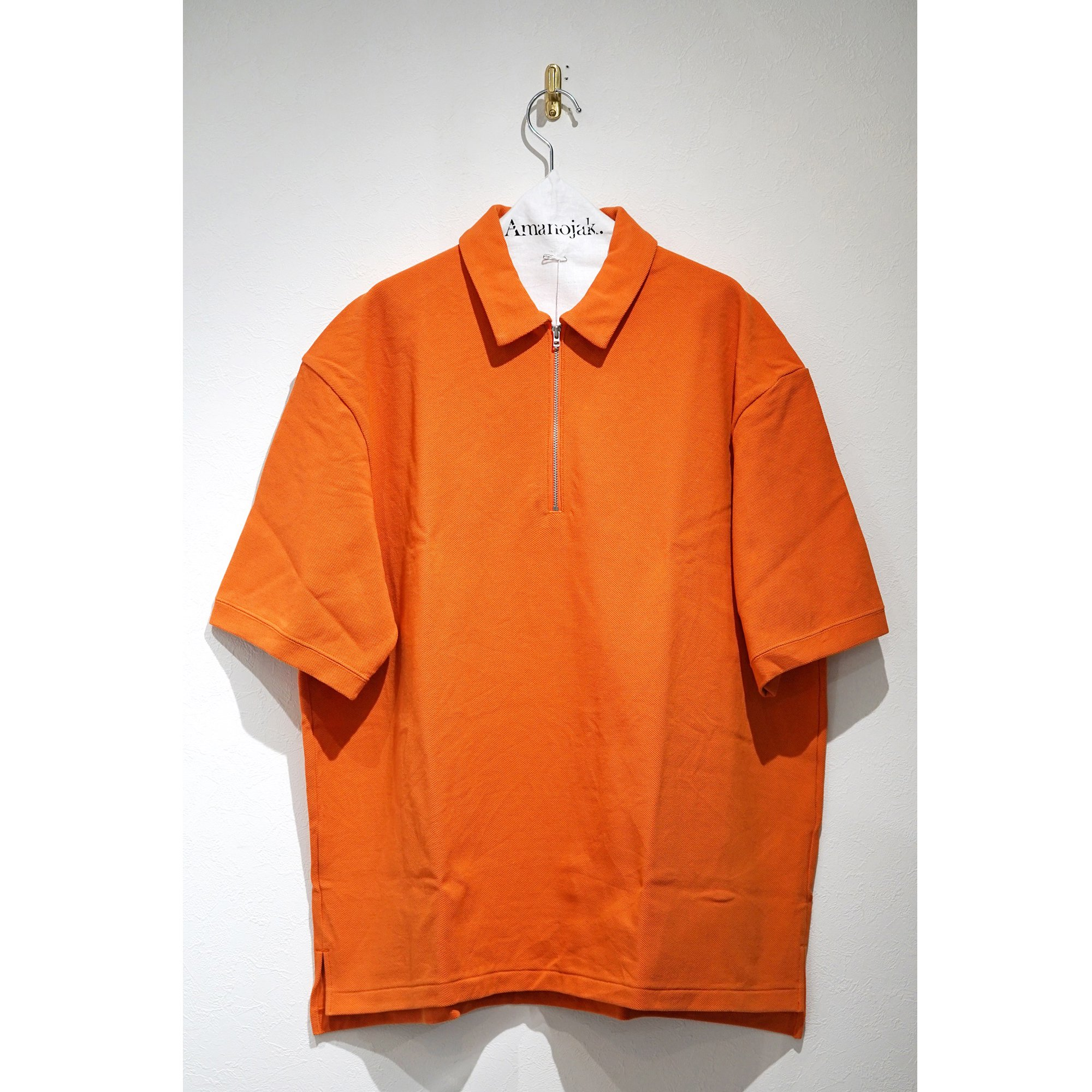 CURLY-BRIGHT SS ZIP POLO ORANGE