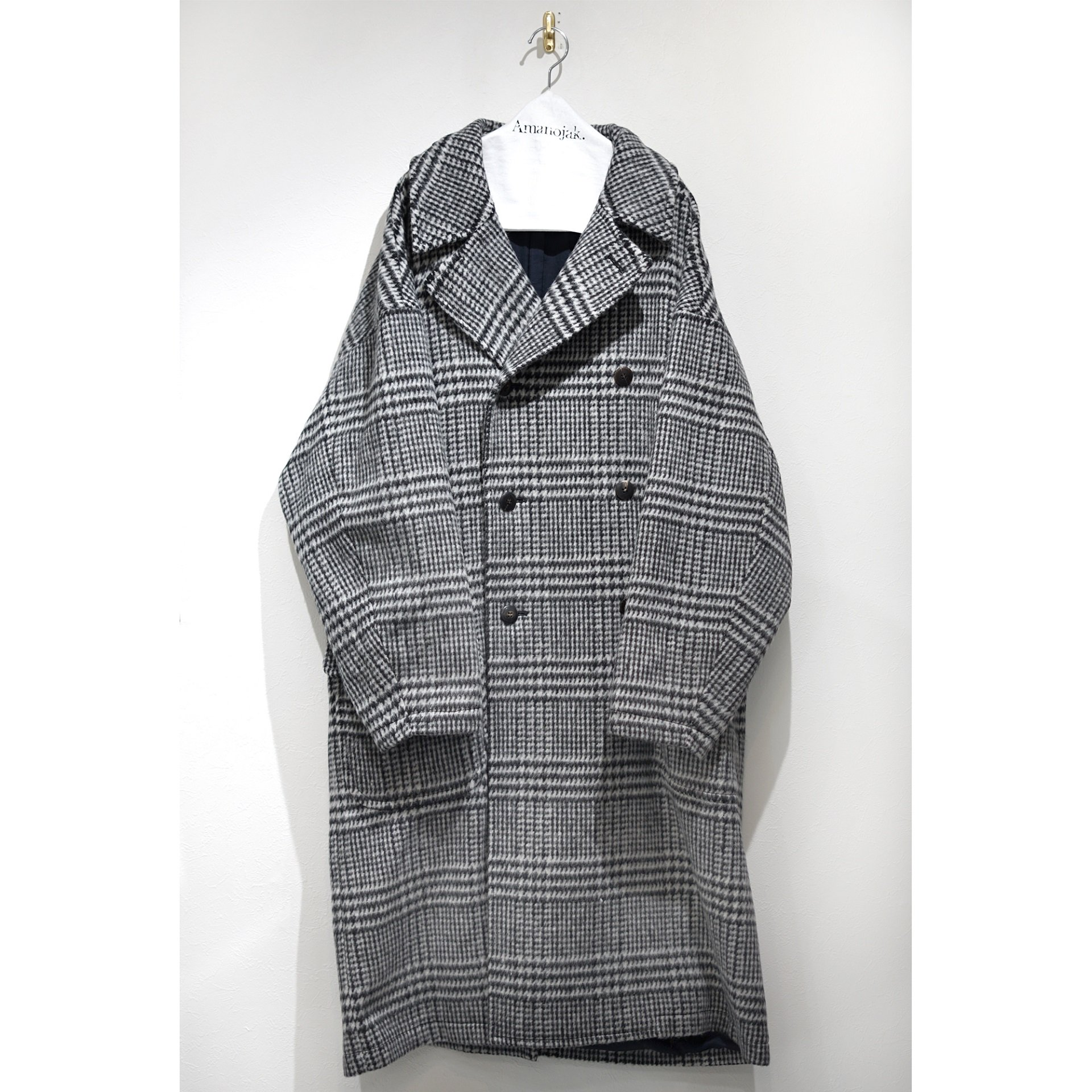 JULIEN DAVID-NAP SHAGGY GLEN CHECK SUITING COAT