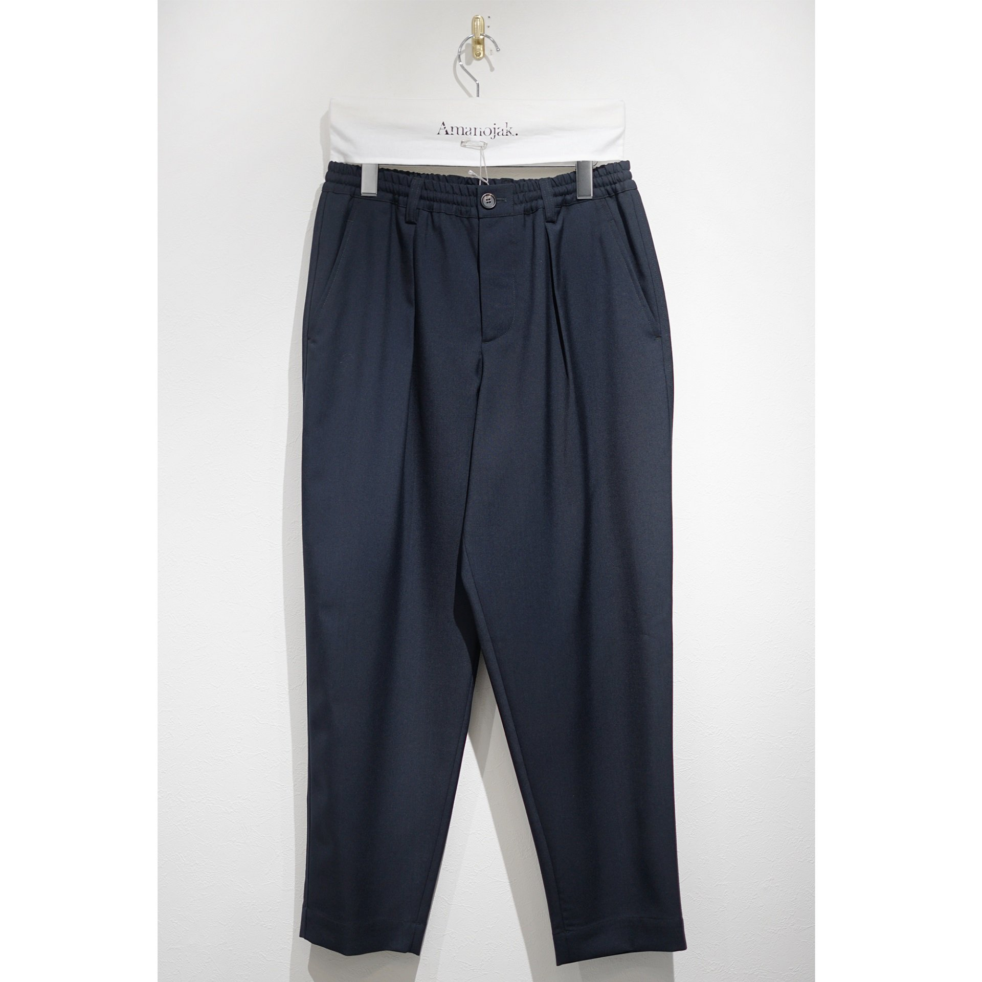 MARNI-EASY PANTS WOOSTED WOOL BLUE NAVY<br>(在庫なし)