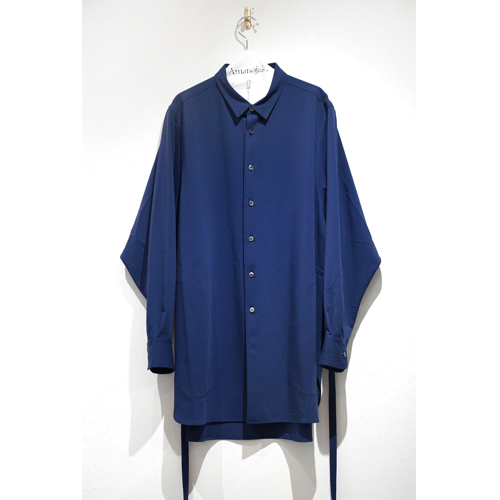 PRASTHANA-STRINGS LONG SHIRTS BLUE
