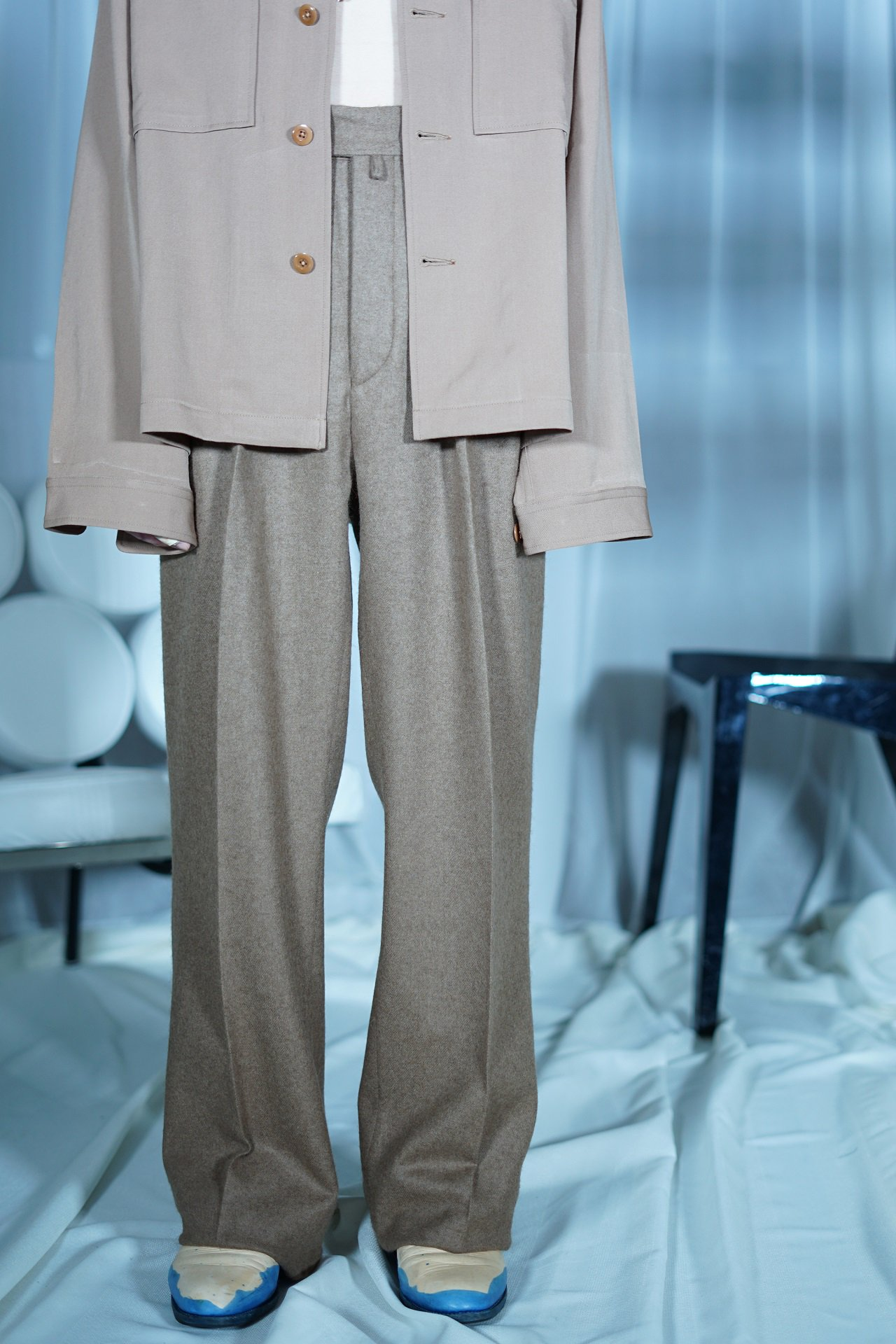 """50着限定受注""【EXCLUSIVE】NEAT for Amanojak.- ""RAKUDA"" TROUSERS"