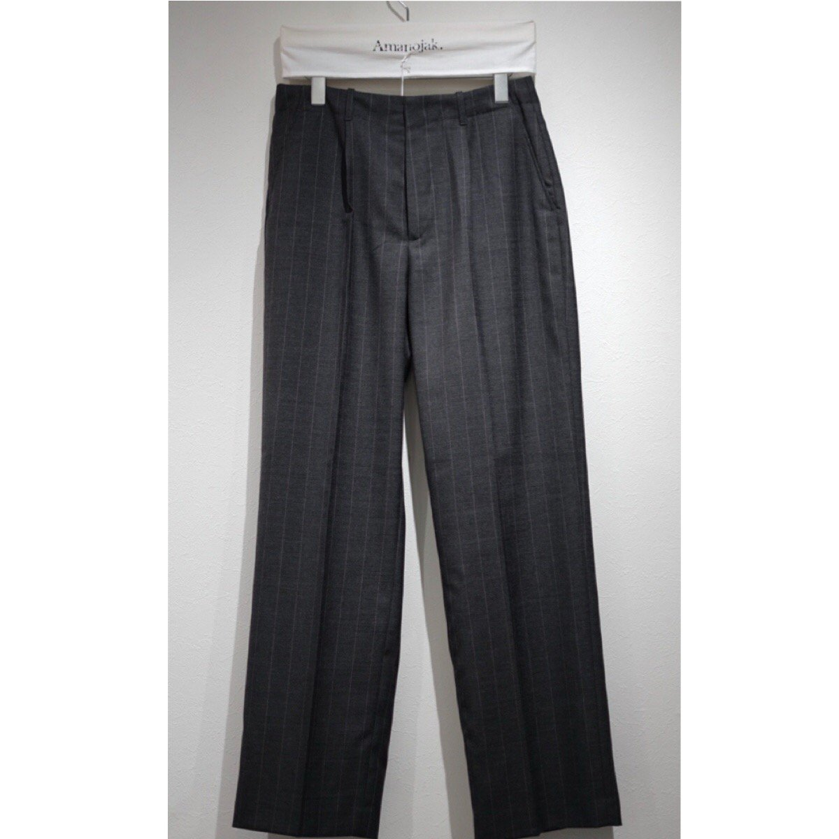 OUR LEGACY-BORROWED WIDE CHINO PANTS WOOL PINSTRIPE