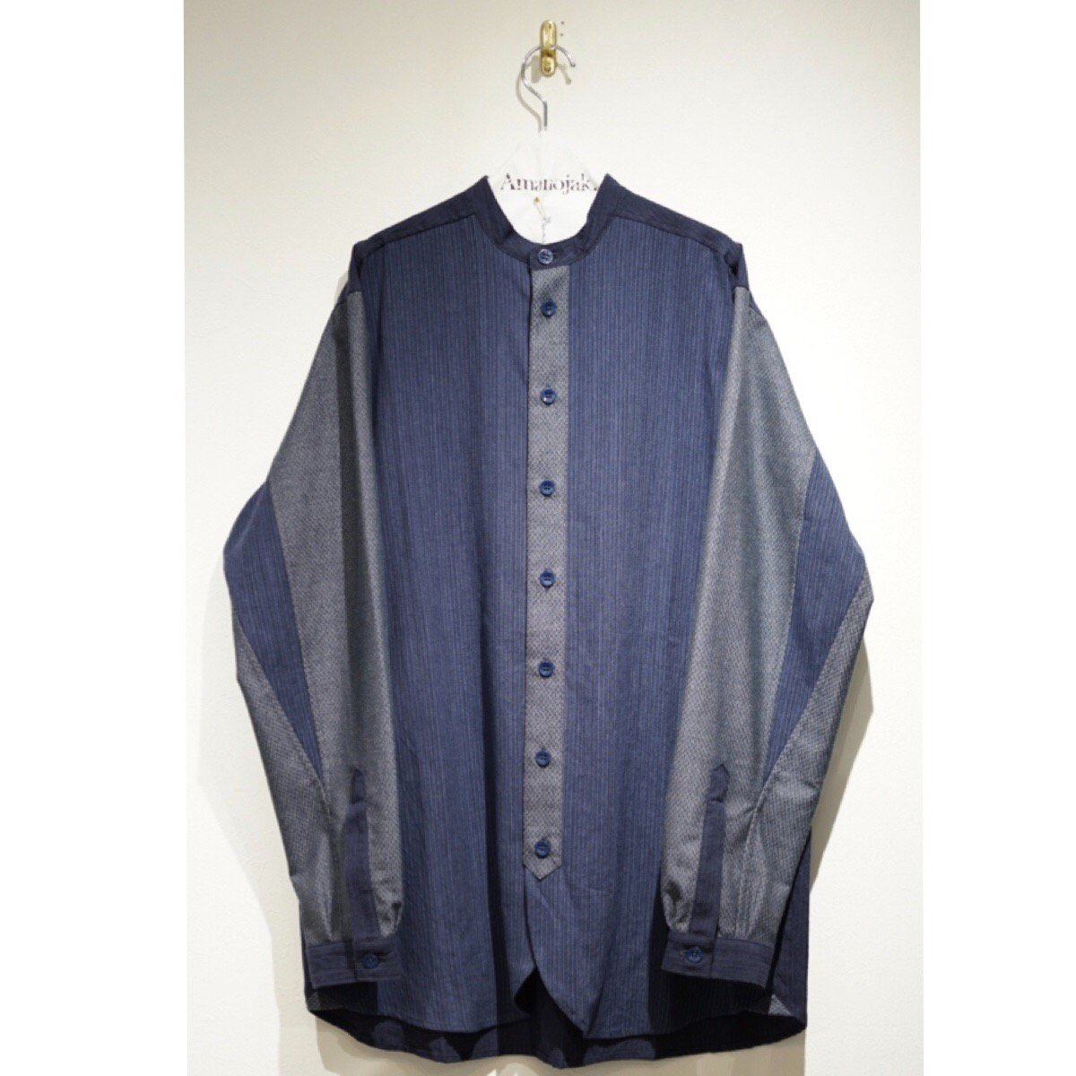 FRANK LEDER-VINTAGE FABRIC EDITION STAND COLLAR SHIRTS