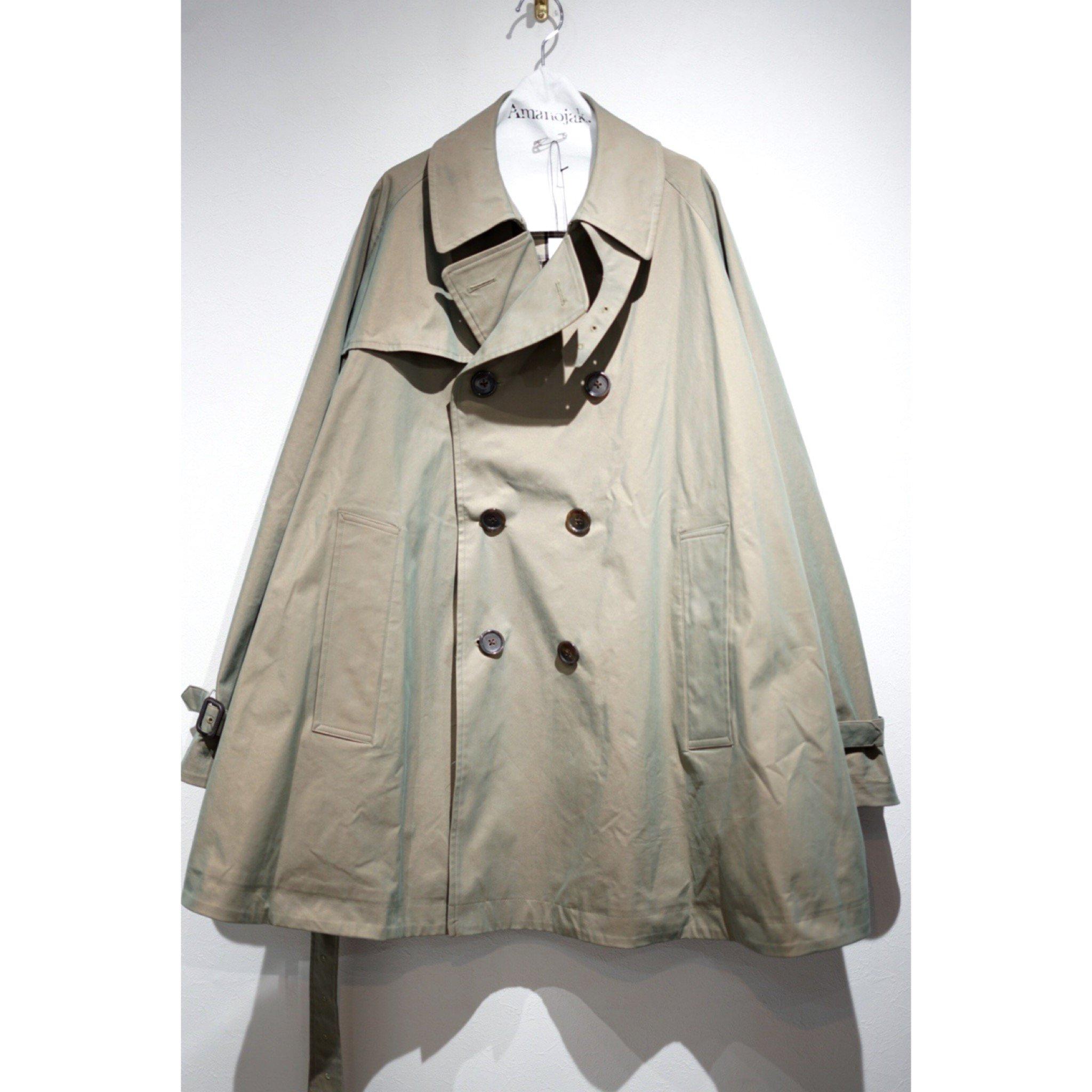 MAINU-COTTON/POLY GABARDINE TRENCH COAT