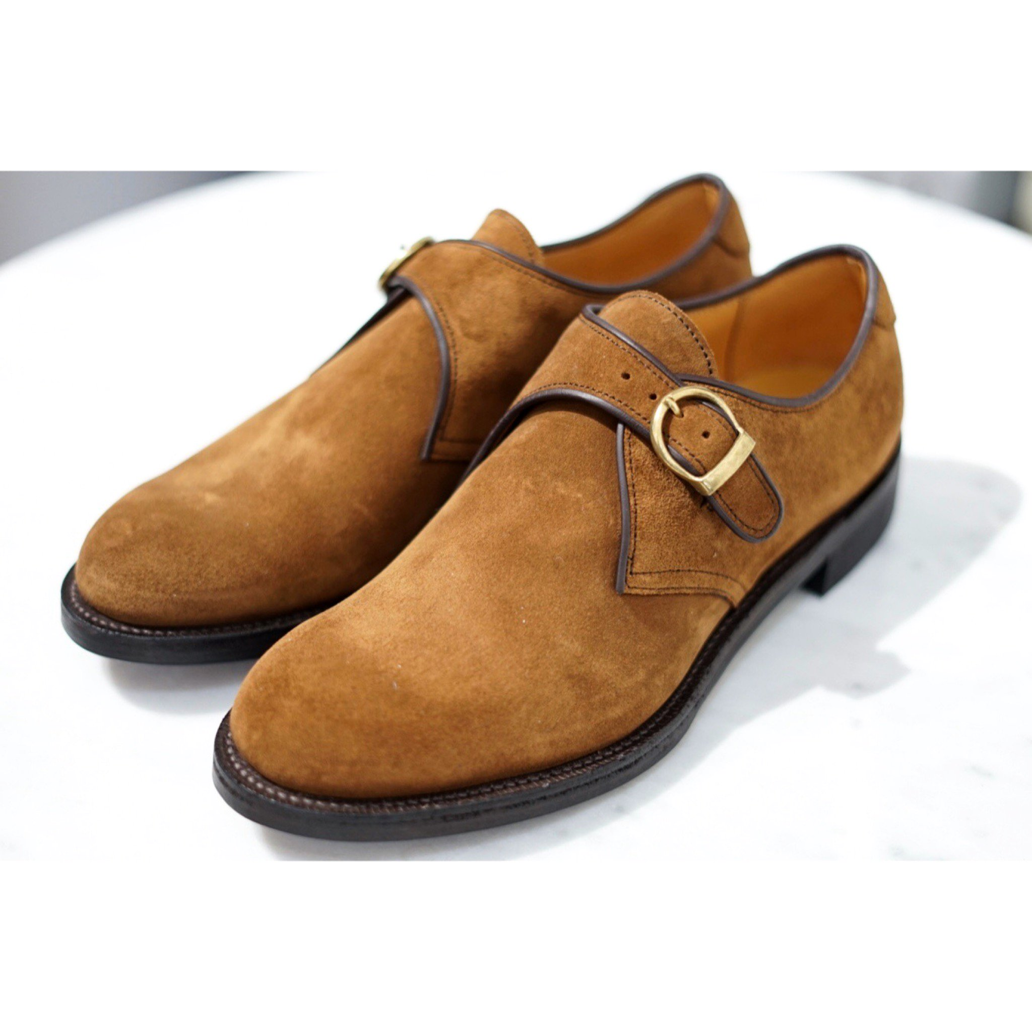 MAKERS-10th ANNIVERSARY SINGLE MONK STRAP SUEDE