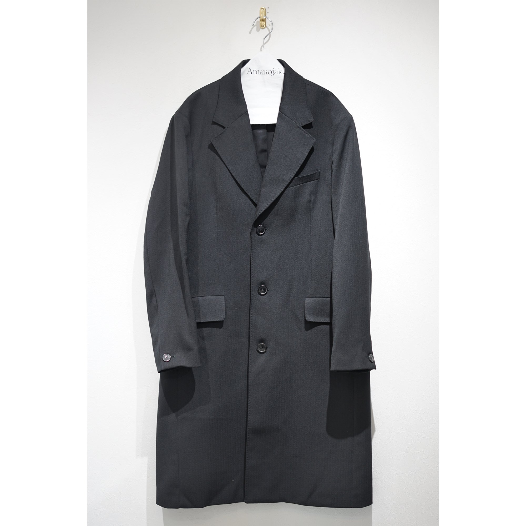 OUR LEGACY-DOLPHIN CHESTERFIELD COAT HERRINGBONE