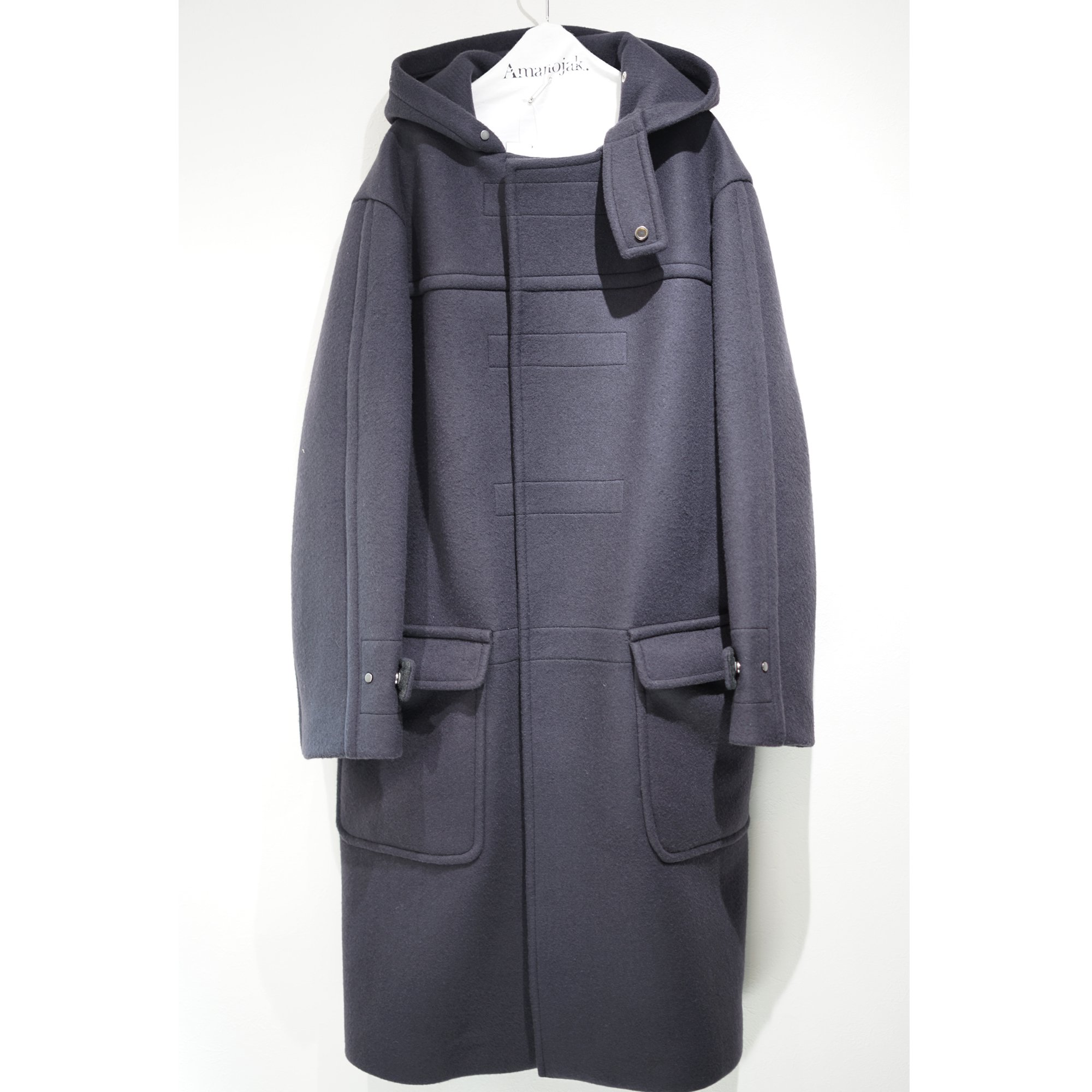 ATON-SUPER160'S WOOL DOUBLE MELTON DUFFLE COAT