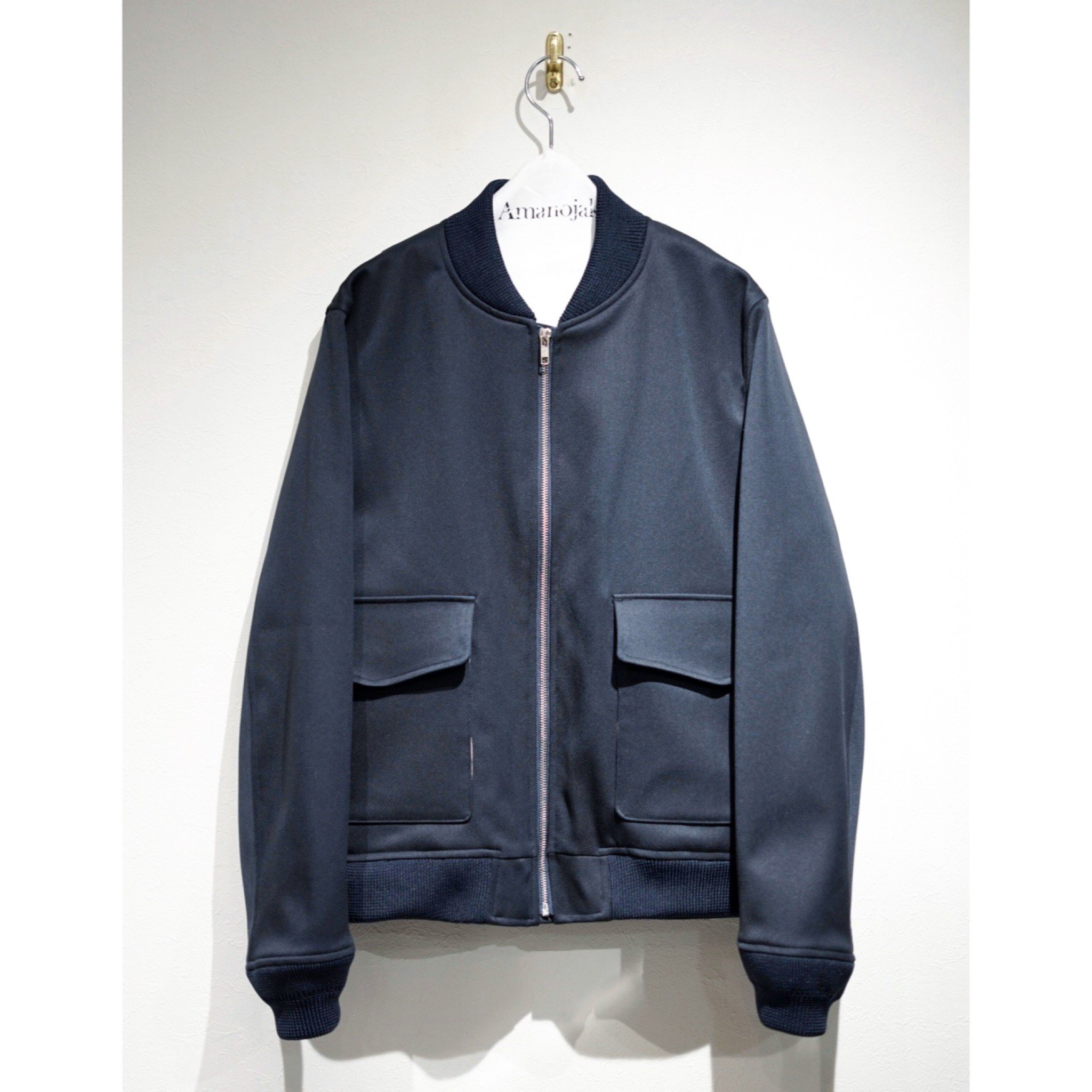 [Milok]-BOMBER JACKET NAVY SOLID