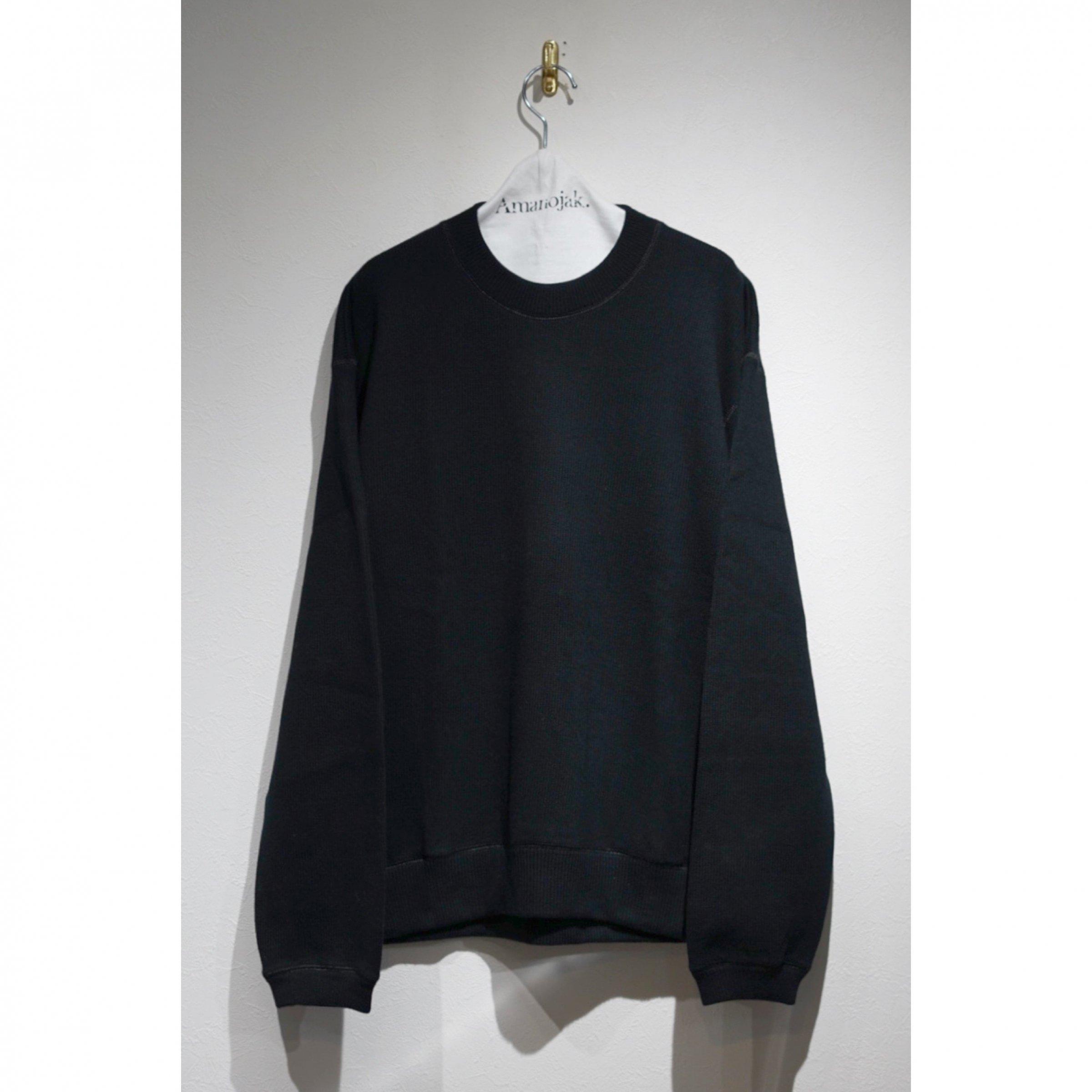 CURLY-LUMPY SWEATER BLACK