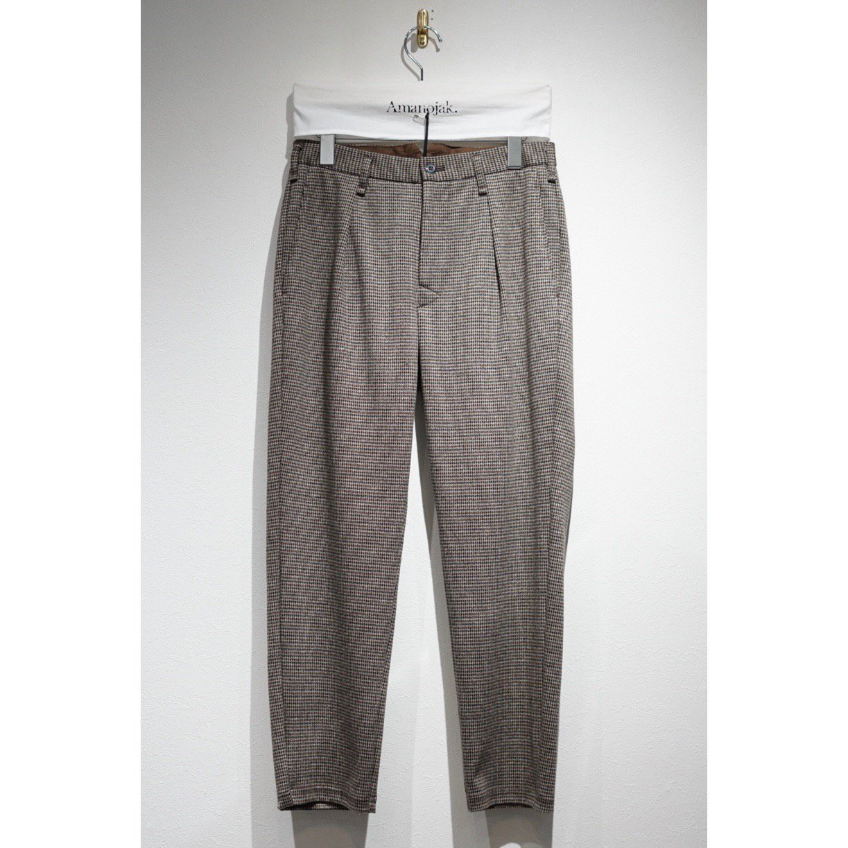 CURLY-ADVANCE TROUSERS BROWN CHECK