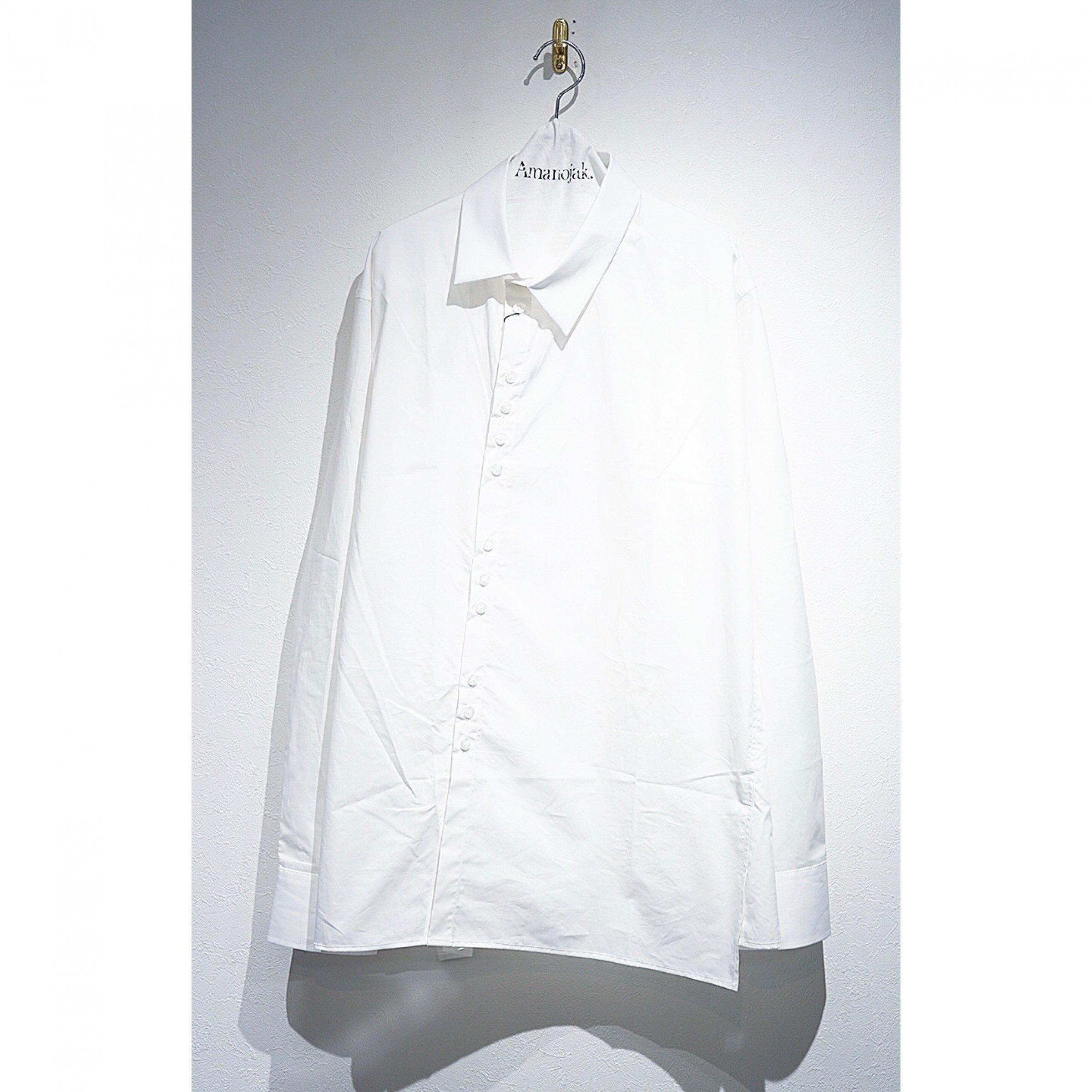 DELADA-ASYMMETRICAL SHIRTS WHITE