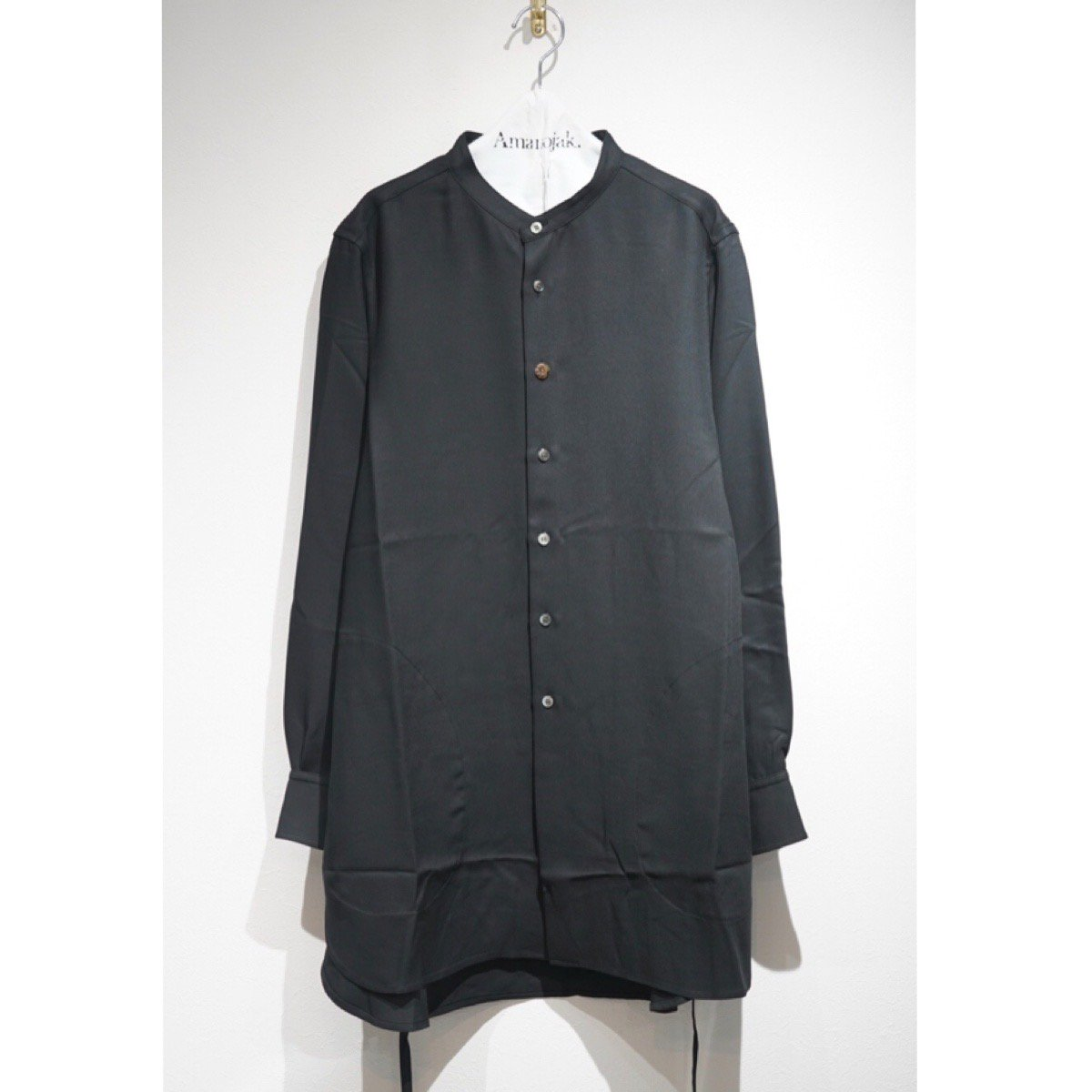 PRASTHANA-STRINGS BAND COLLAR SHIRTS Ver.2 BLACK