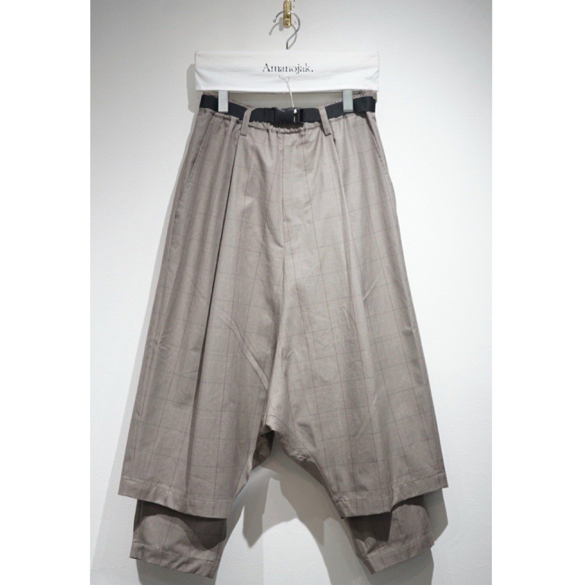 PRASTHANA-残響 BELTED WIDE TROUSERS BEIGE
