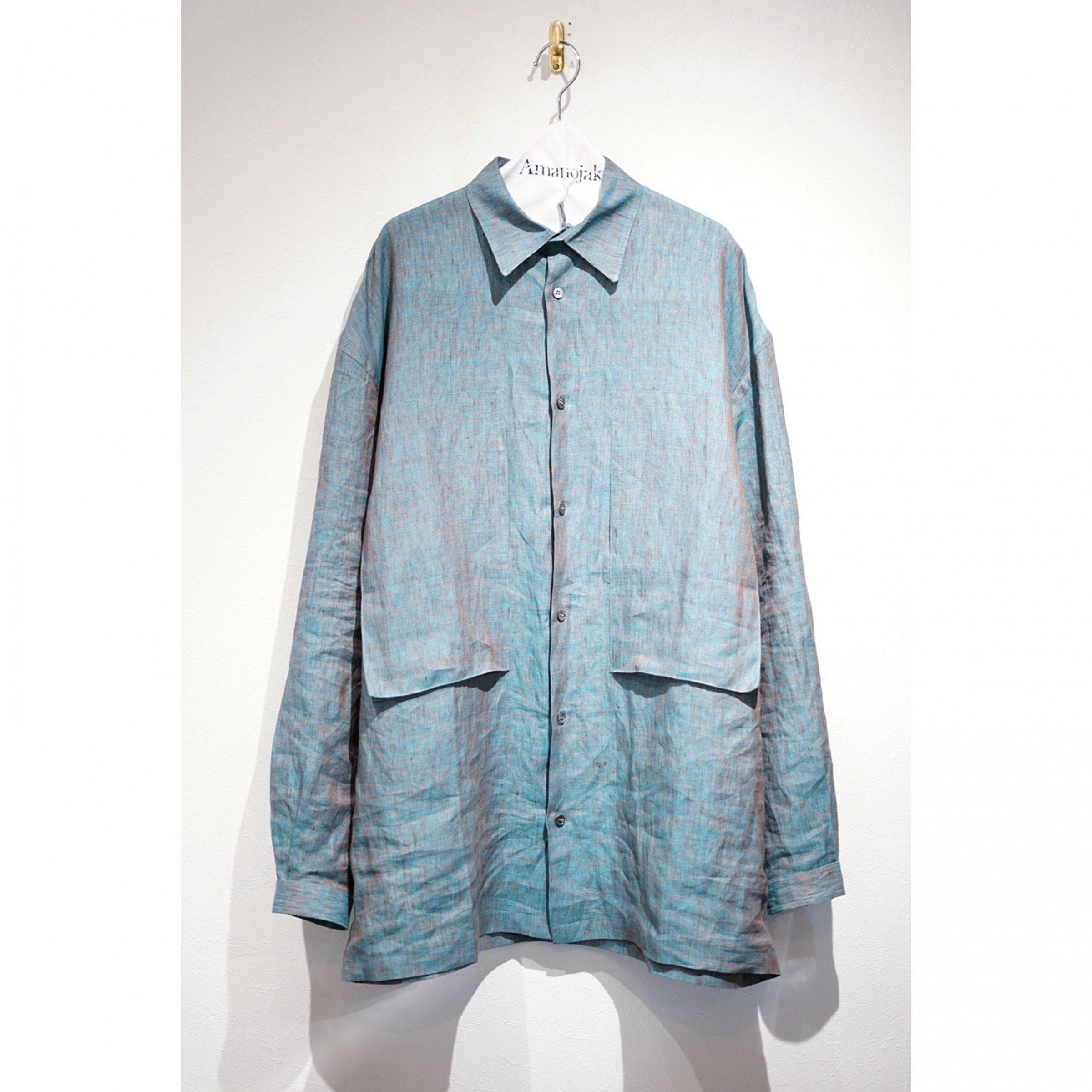 E.TAUTZ-LINEMAN SHIRT LINEN CLOTH