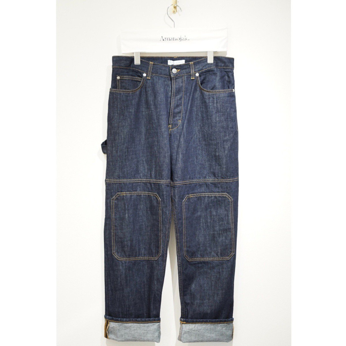 JW ANDERSON-PATCHED DENIM TROUSERS