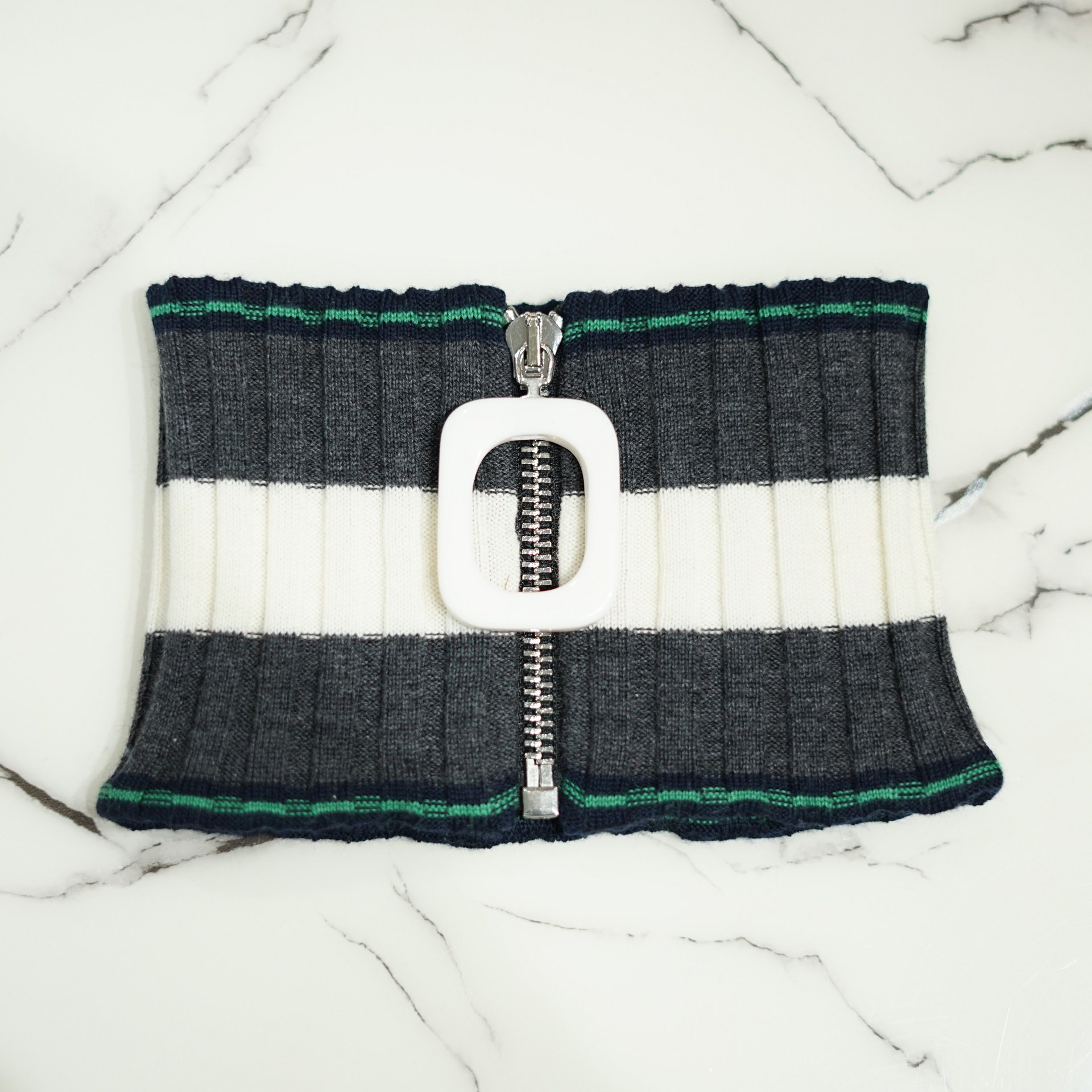 JW ANDERSON-JWA TURTLE NECK RIB BAND BORDER