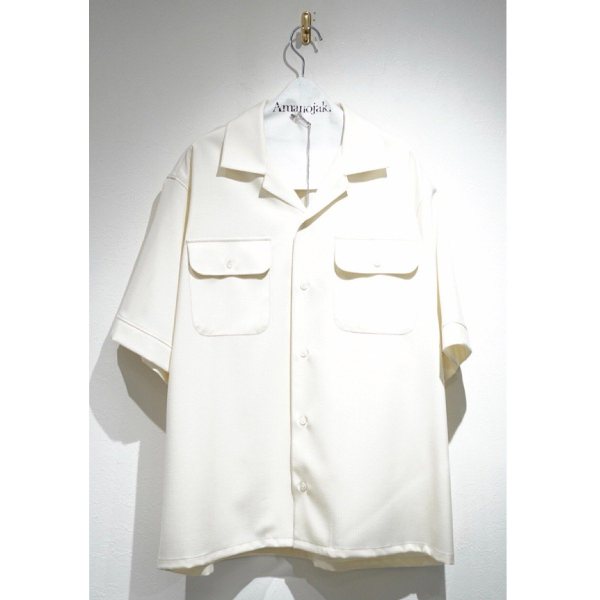 MARNI-RIP STOP WOOSTED WOOL O/C S/S SHIRTS IVORY<br>(在庫あり)