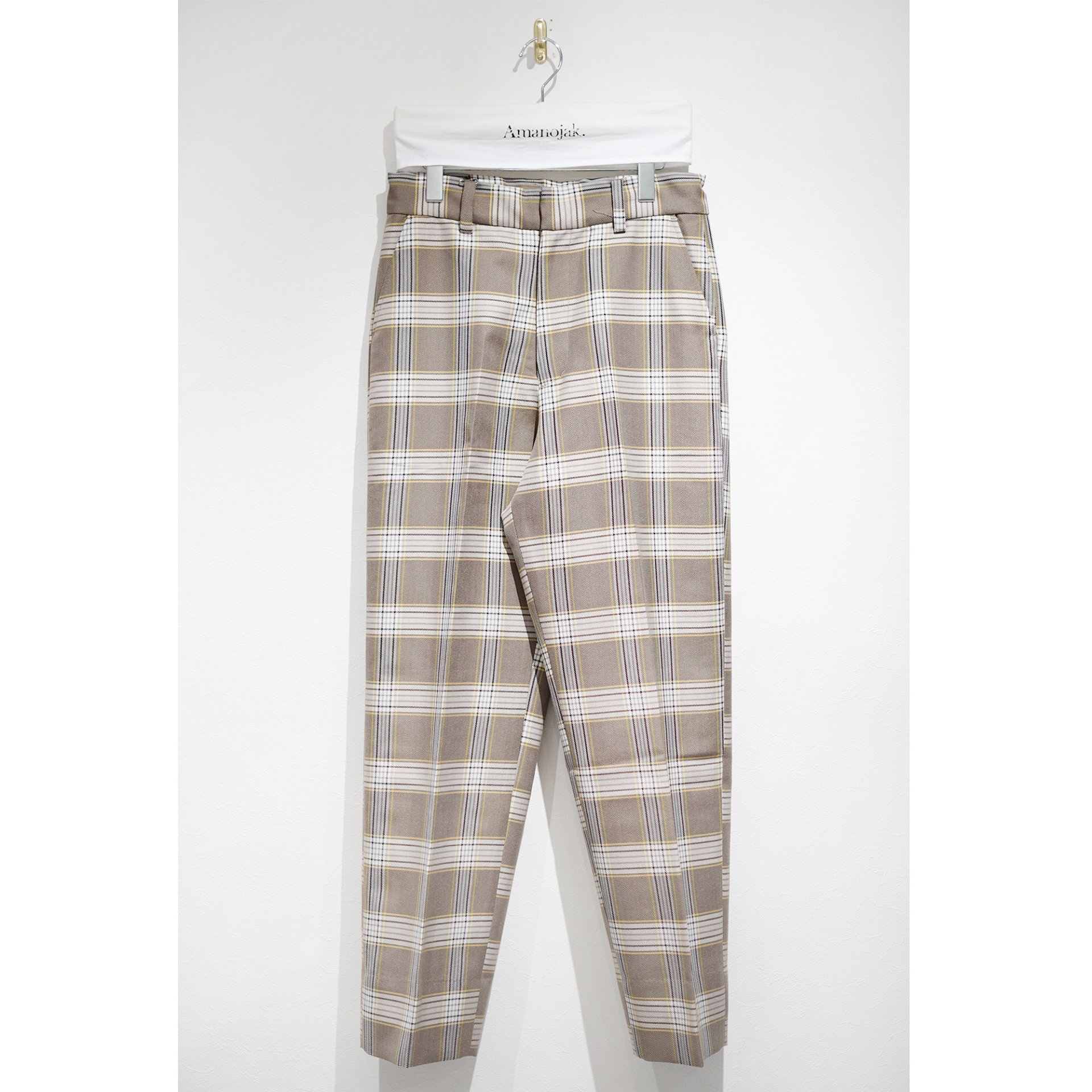 ATHA-WOOL/POLY HIGHDENSITY STRAIGHT EASY TROUSERS TARTAN CHECK