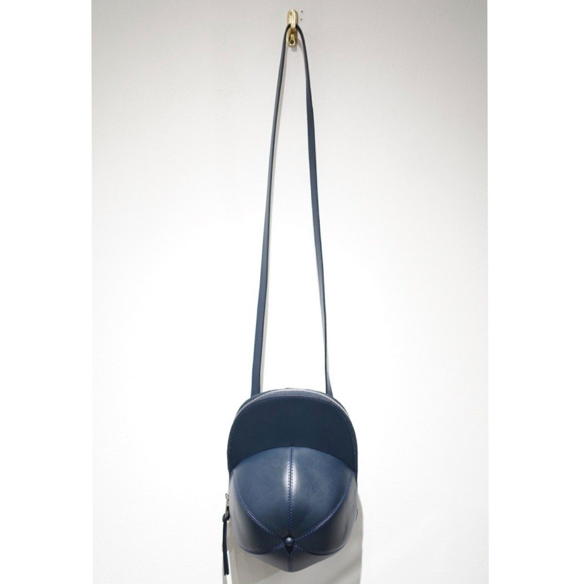 JW ANDERSON-CAP BAG LEATHER NAVY
