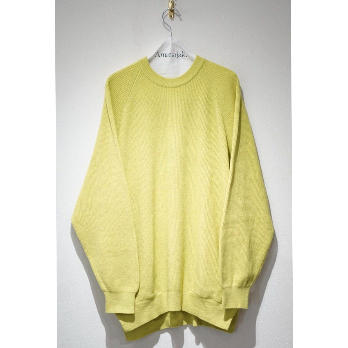 CURLY-ASSEMBLY CREW KNIT OPTIC YELLOW