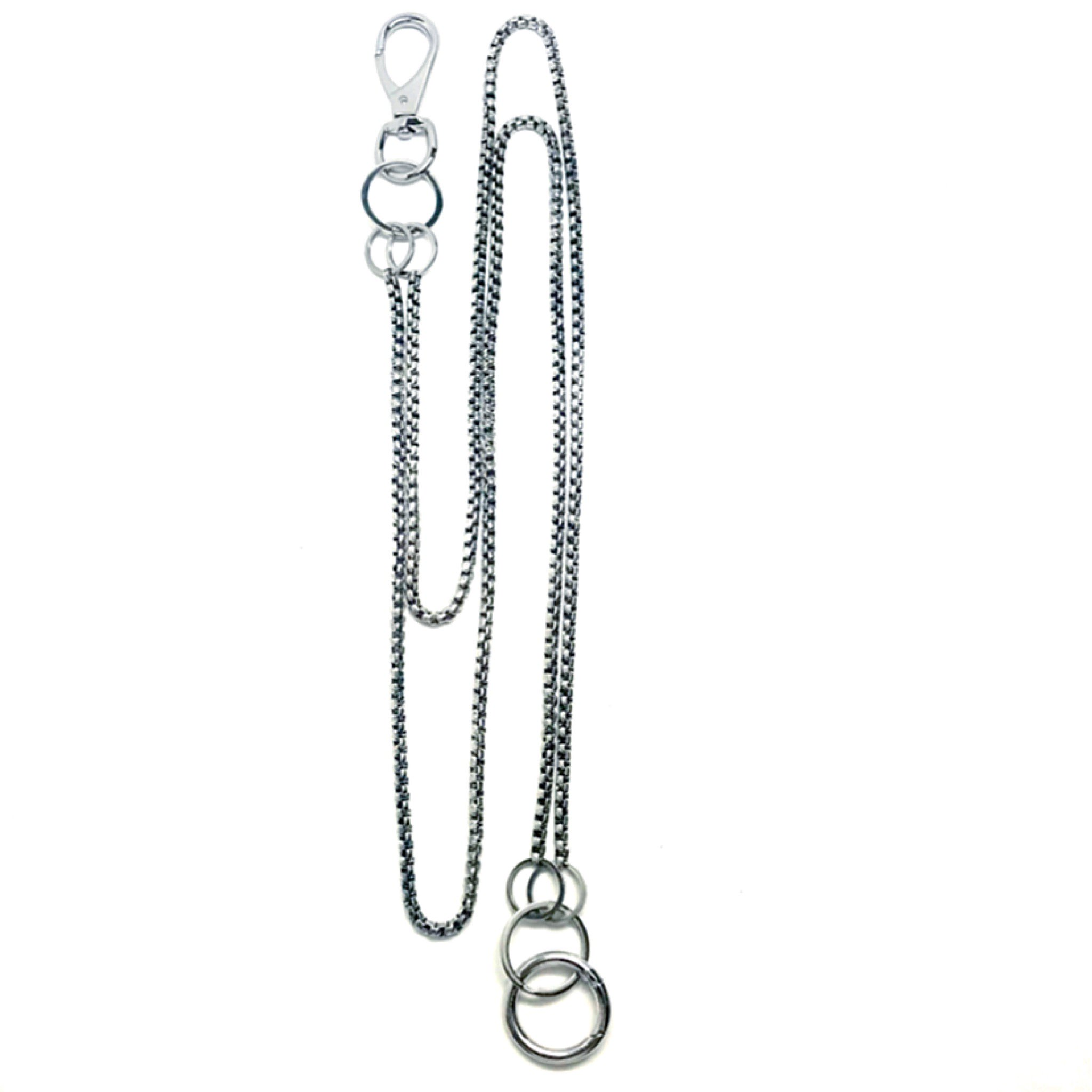 MARTINE ALI-DOUBLE BOXER WALLET CHAIN HEIRLOOM SILVER