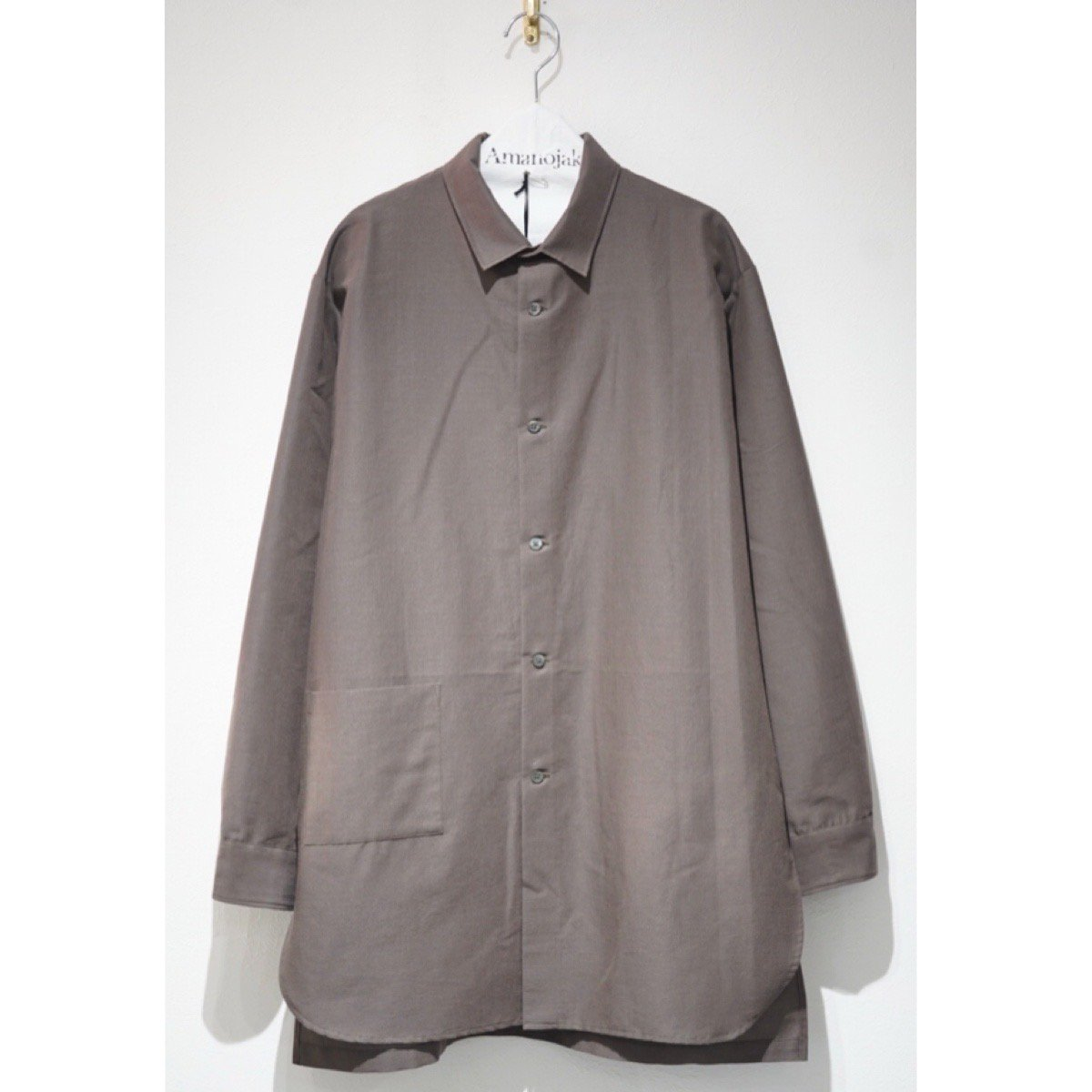 08sircus-MOHAIR WOOL COTTON LONG SHIRTS OUTER BROWN