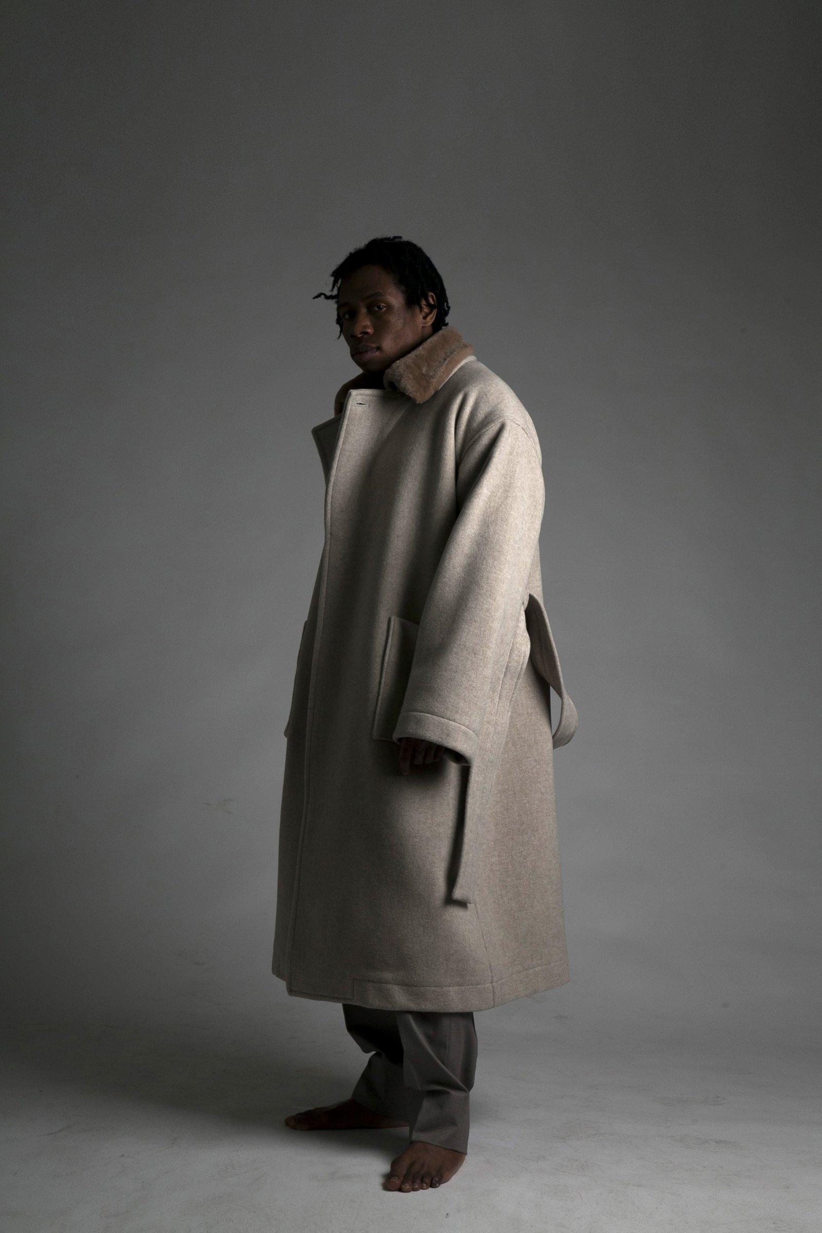 【4/5まで!20AW受注アイテム】ATHA-DOUBLE MELTON MAXI COAT