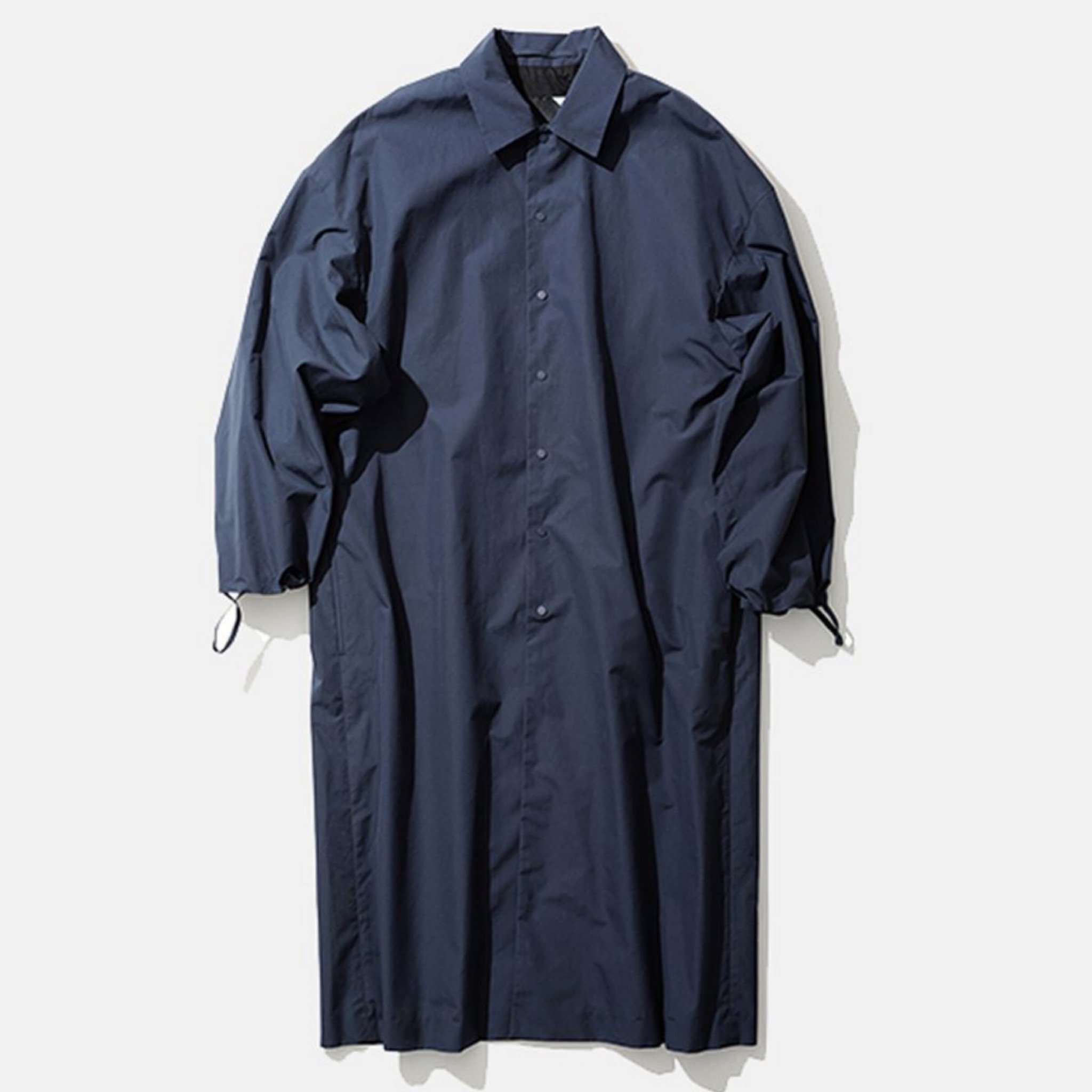 ATON-GIZA WEATHER COACH COAT NAVY