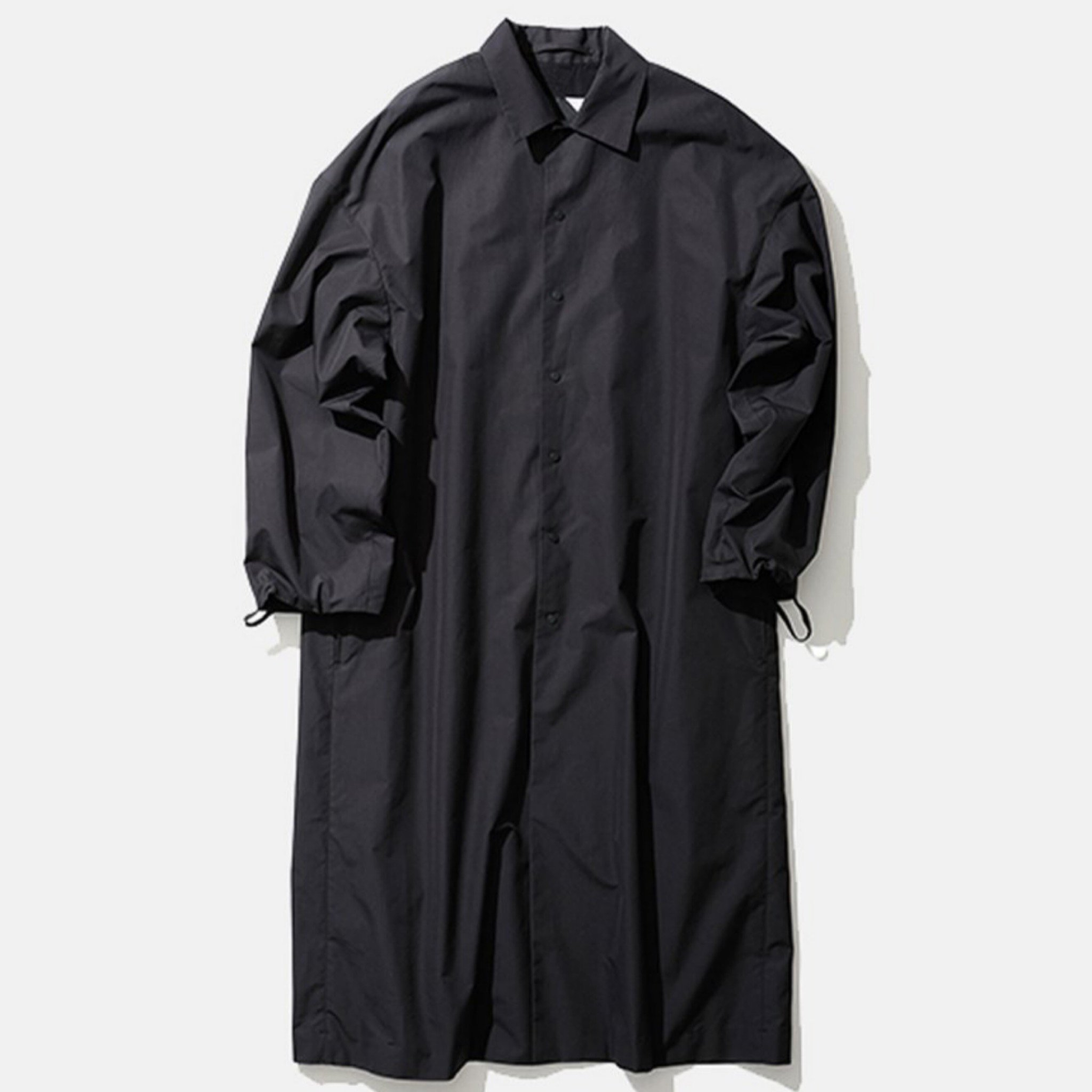 ATON-GIZA WEATHER COACH COAT CHARCOAL