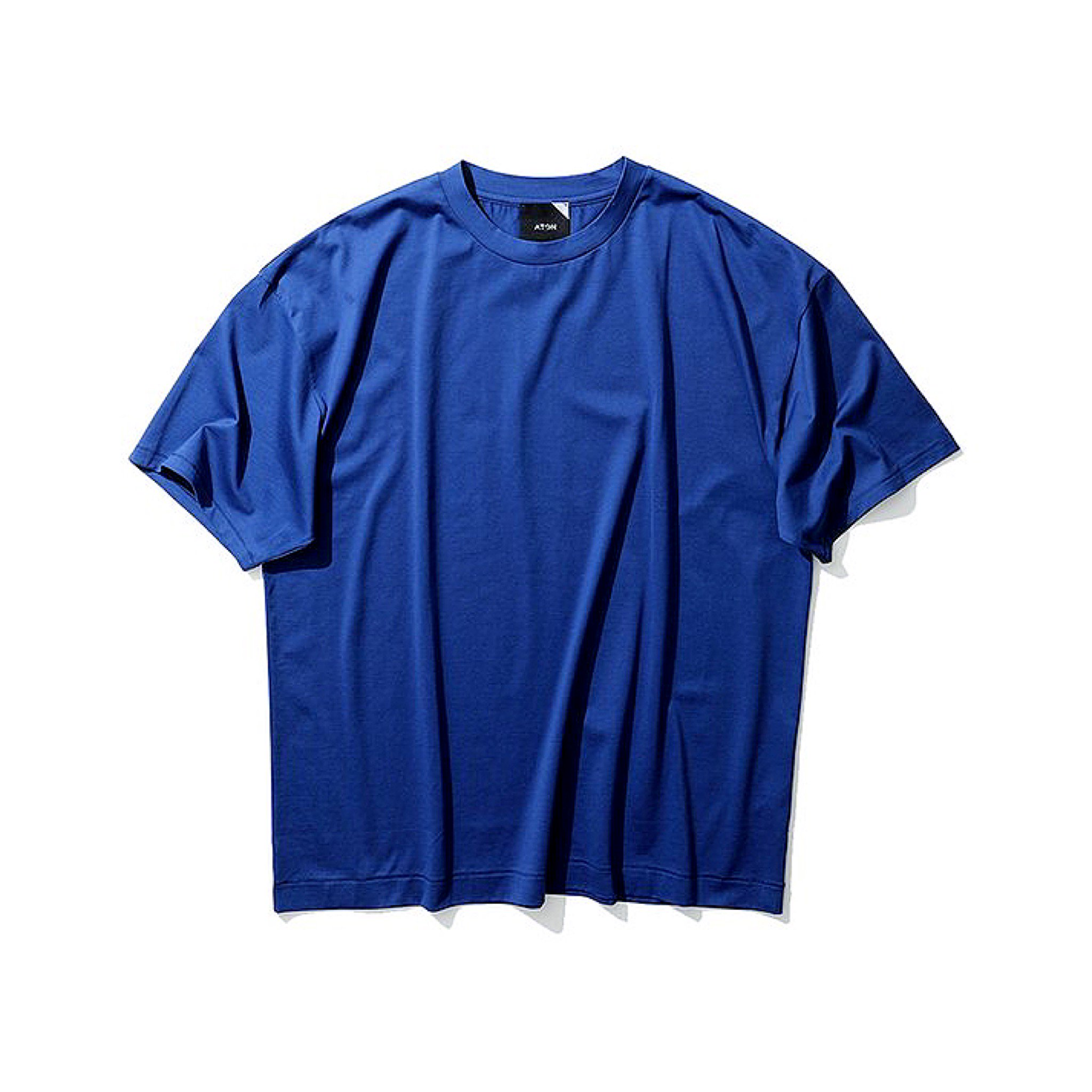ATON-SUVIN 60/2 OVERSIZED T-SHIRTS 20ss BLUE