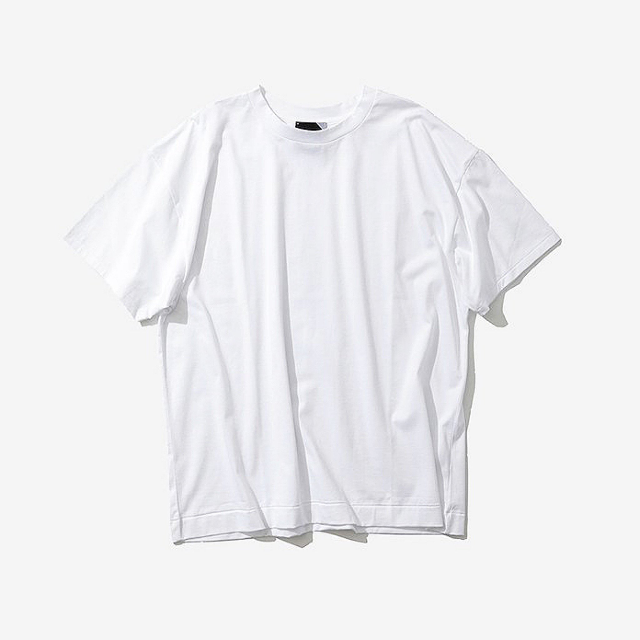 ATON-SUVIN 60/2 OVERSIZED T-SHIRTS 20ss WHITE