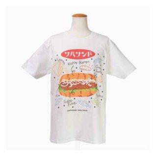 Tシャツ・サバサンド 白