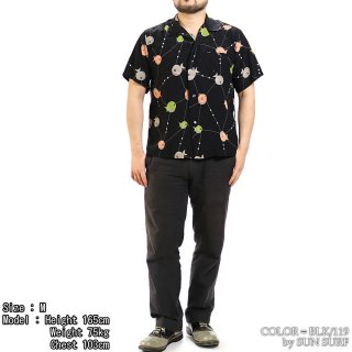 <img class='new_mark_img1' src='https://img.shop-pro.jp/img/new/icons15.gif' style='border:none;display:inline;margin:0px;padding:0px;width:auto;' />SUN SURF x STAR OF HOLLYWOOD SH38128 オープンシャツ HIGH DENSITY RAYON OPEN SHIRT S/S ATOMIC FISH