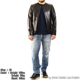 <img class='new_mark_img1' src='https://img.shop-pro.jp/img/new/icons15.gif' style='border:none;display:inline;margin:0px;padding:0px;width:auto;' />FINE CREEK LEATHERS FCJK019 ダグラス LEATHER JACKET DOUGLAS