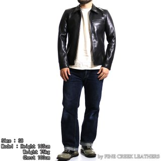 <img class='new_mark_img1' src='https://img.shop-pro.jp/img/new/icons15.gif' style='border:none;display:inline;margin:0px;padding:0px;width:auto;' />FINE CREEK LEATHERS FCJK020 ジェームス LEATHER JACKET JAMES