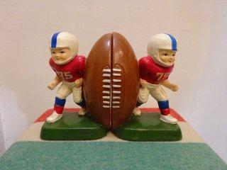 1975年製 Sears Roeback アメリカンフットボール セラミックブックエンド Made in JAPAN