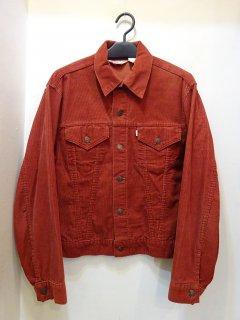 70's Levi's 70505 コーデュロイジャケット エンジ色 size42