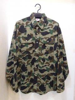80's Prentiss カモフラ柄シャモアクロス ワークシャツ アメリカ製