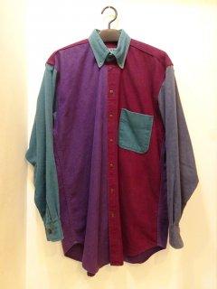 90's Woolrich クレイジーパターン フランネルBDシャツ