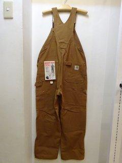 Dead Stock 70's Carhartt ブラウンダック オーバーオール W36 L30
